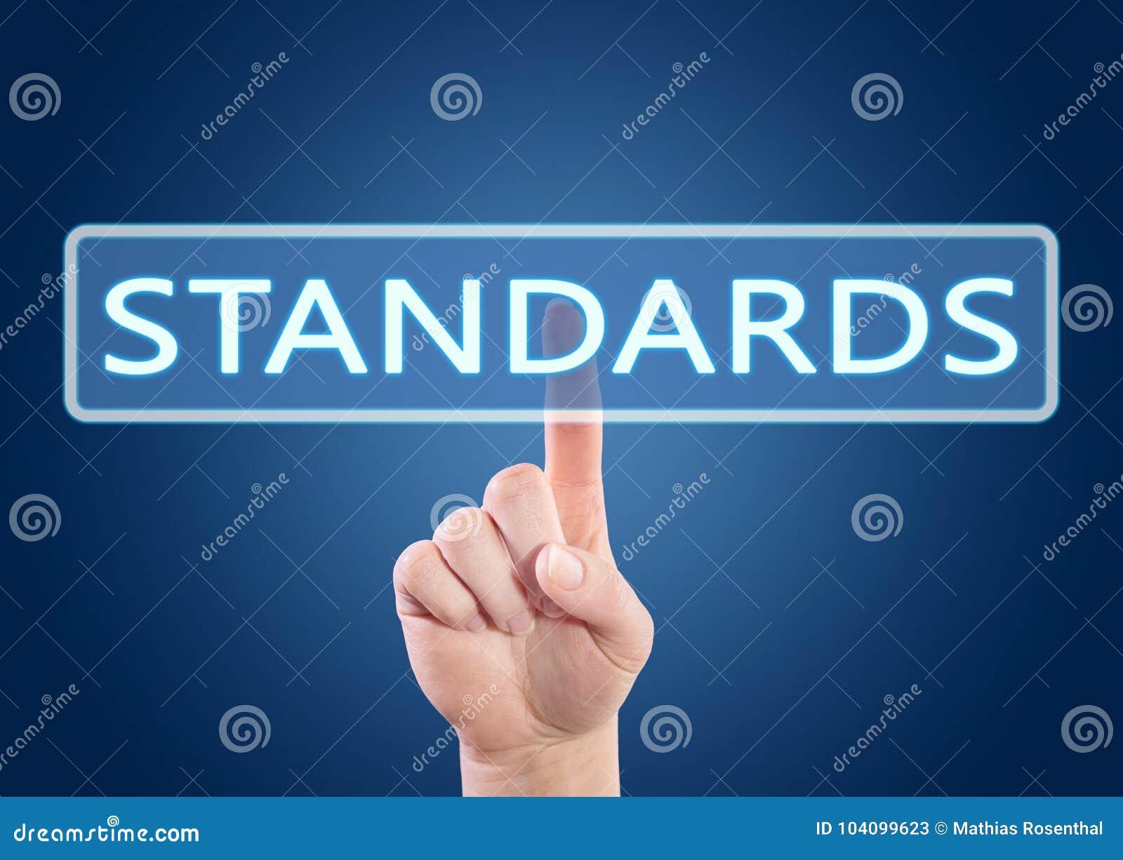 Concepto del texto de los estándares