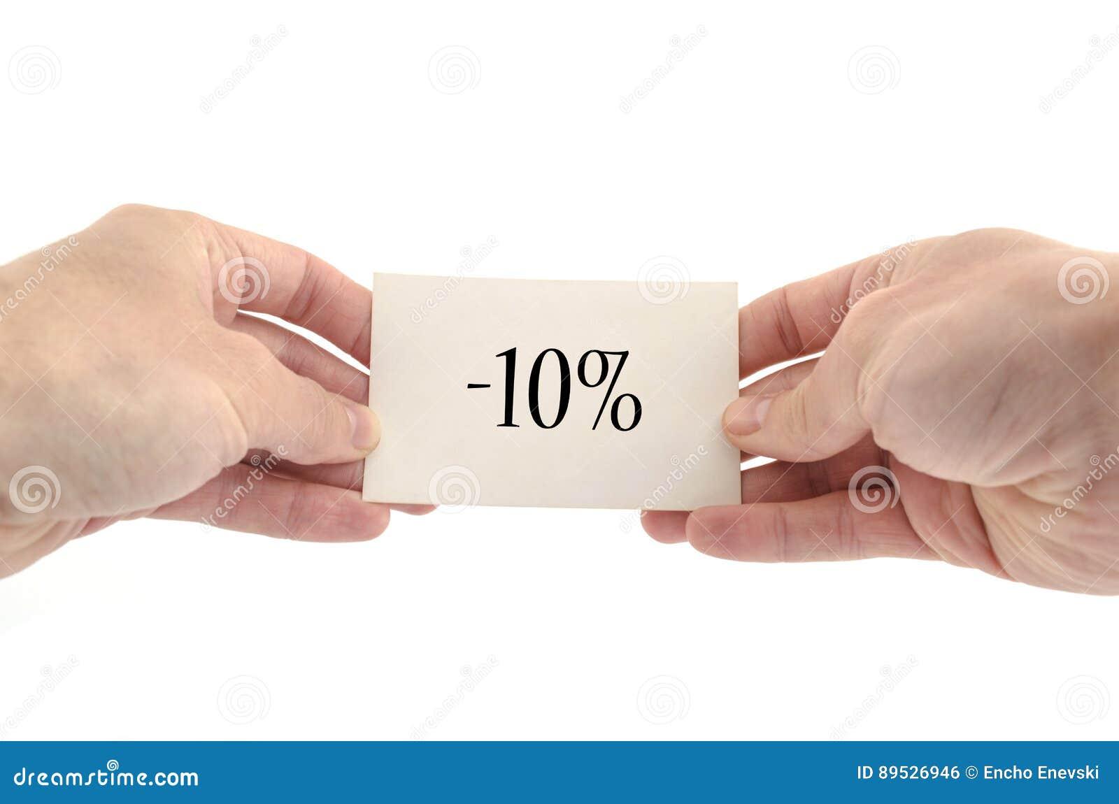 Concepto del texto del diez por ciento