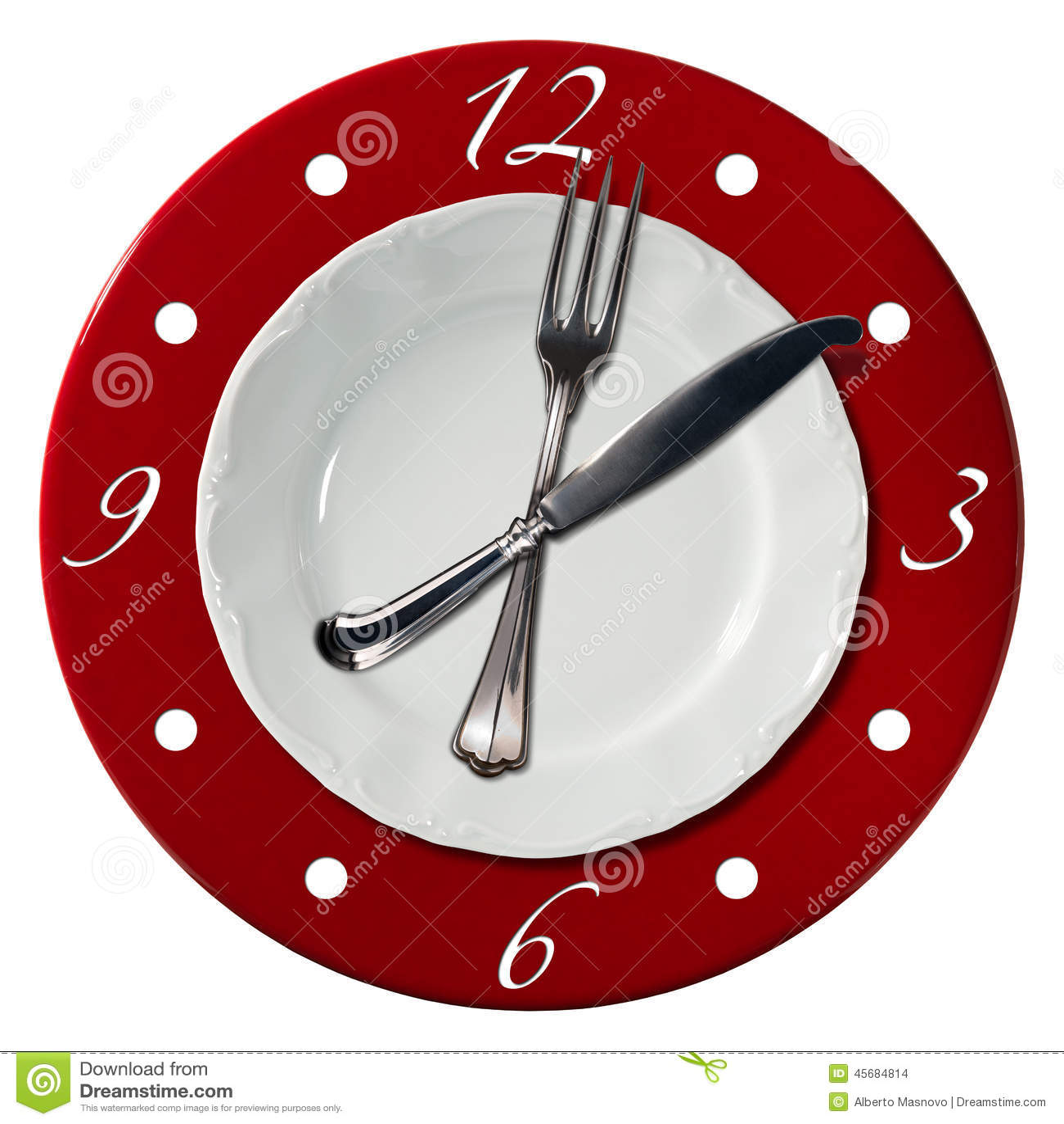 Concepto del tiempo del almuerzo