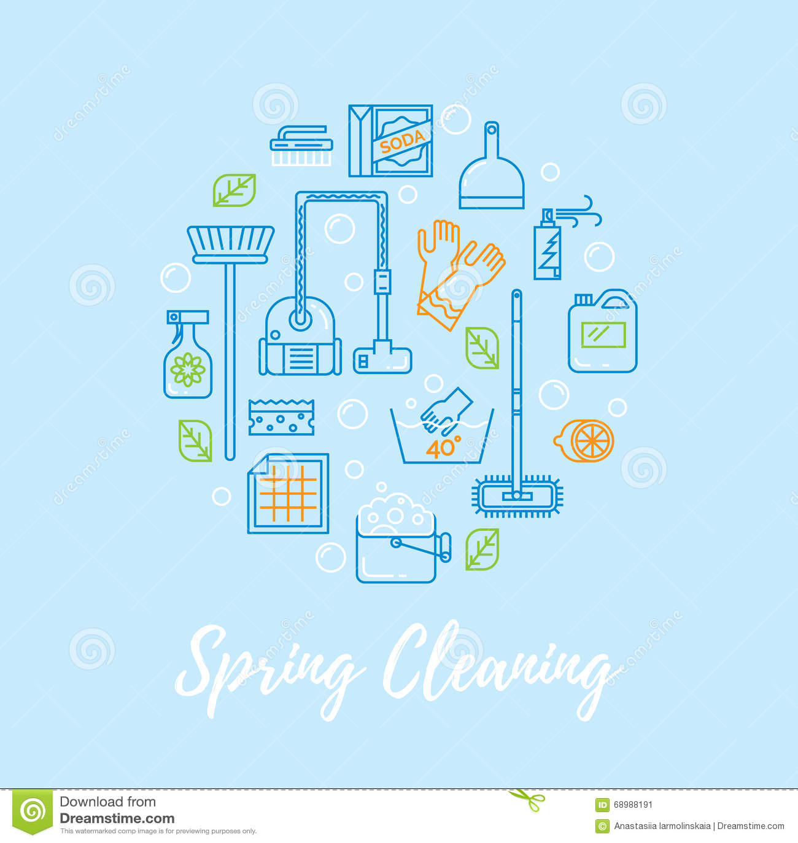 Concepto del vector de la limpieza