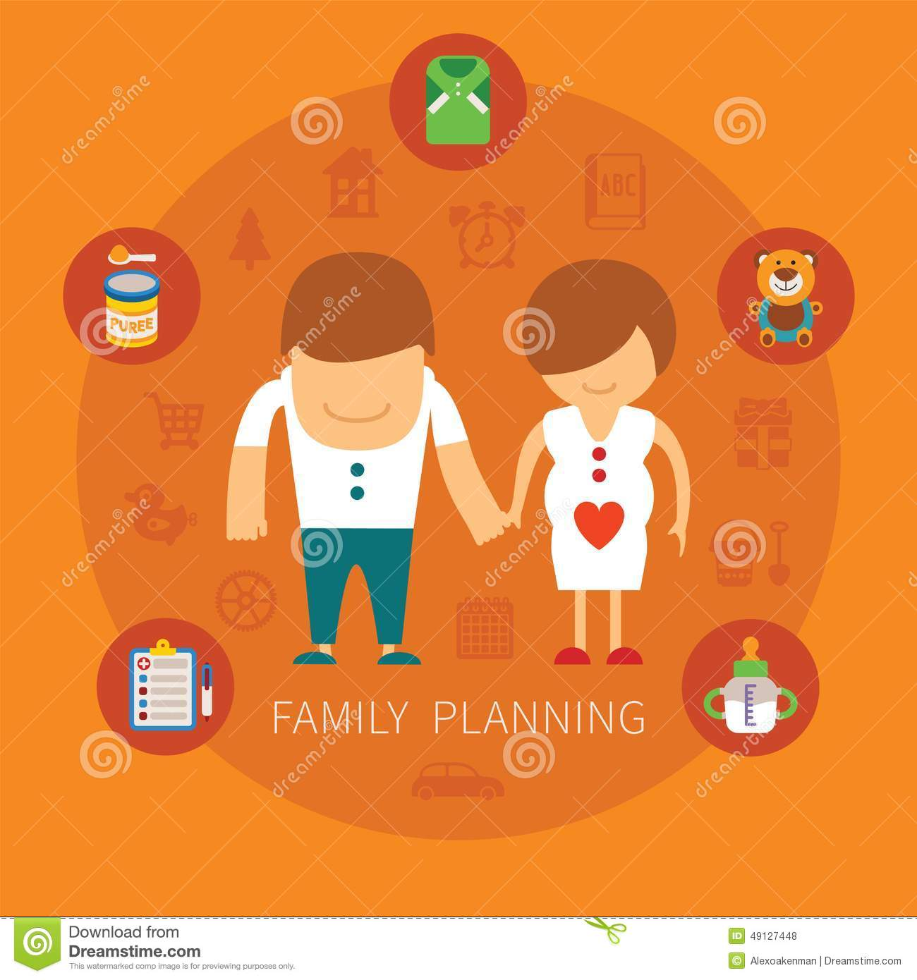 Concepto del vector de la planificaci n familiar for Family planning com