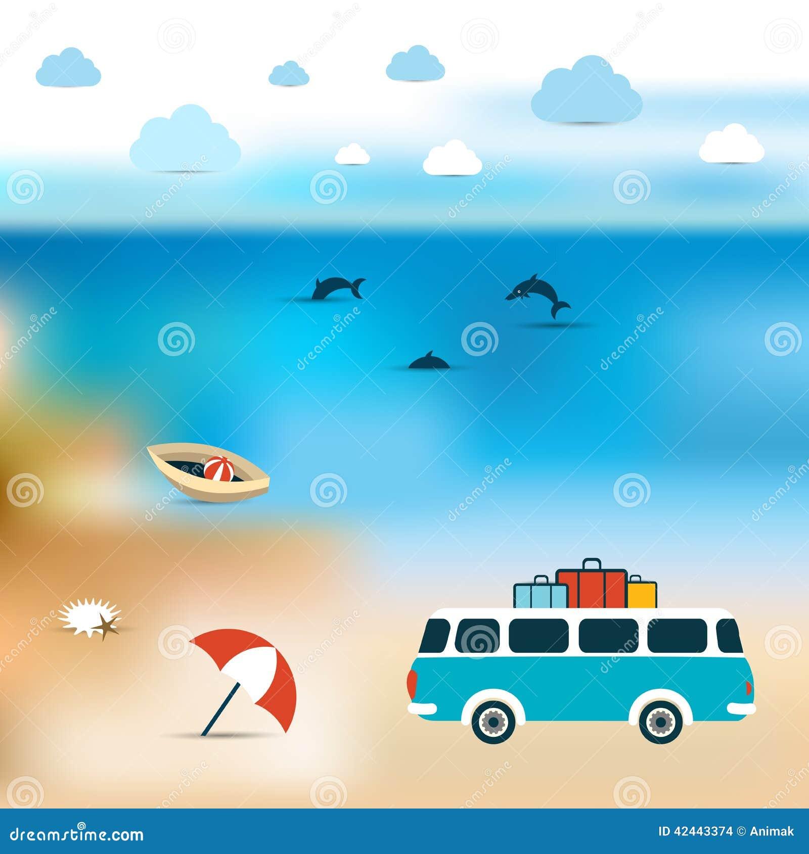 Concepto del verano Un fondo más azul de la playa de océano