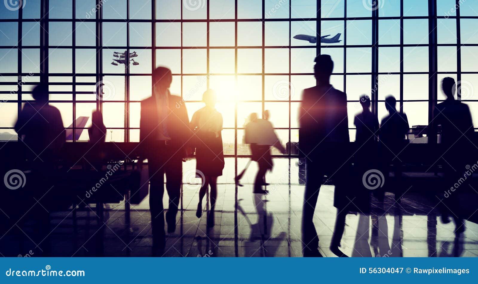Concepto del viaje de negocios del viaje del terminal de aeropuerto internacional