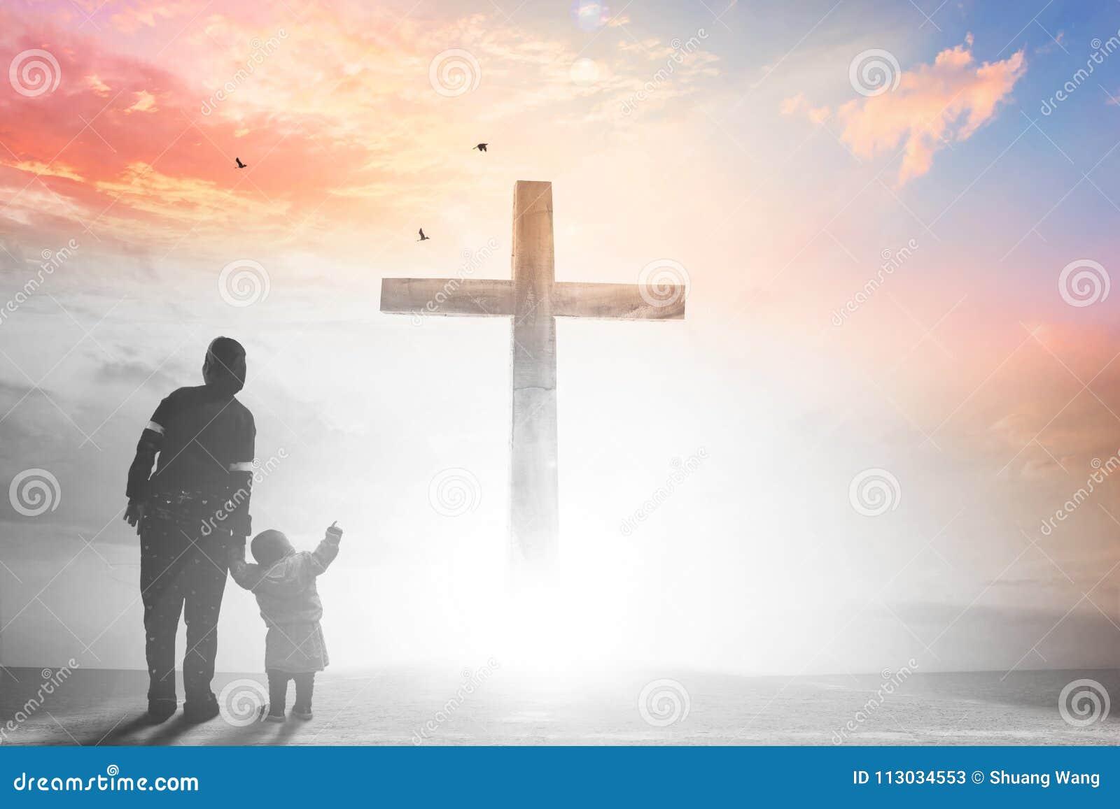 Concepto del Viernes Santo: ejemplo de la crucifixión de Jesus Christ en Viernes Santo