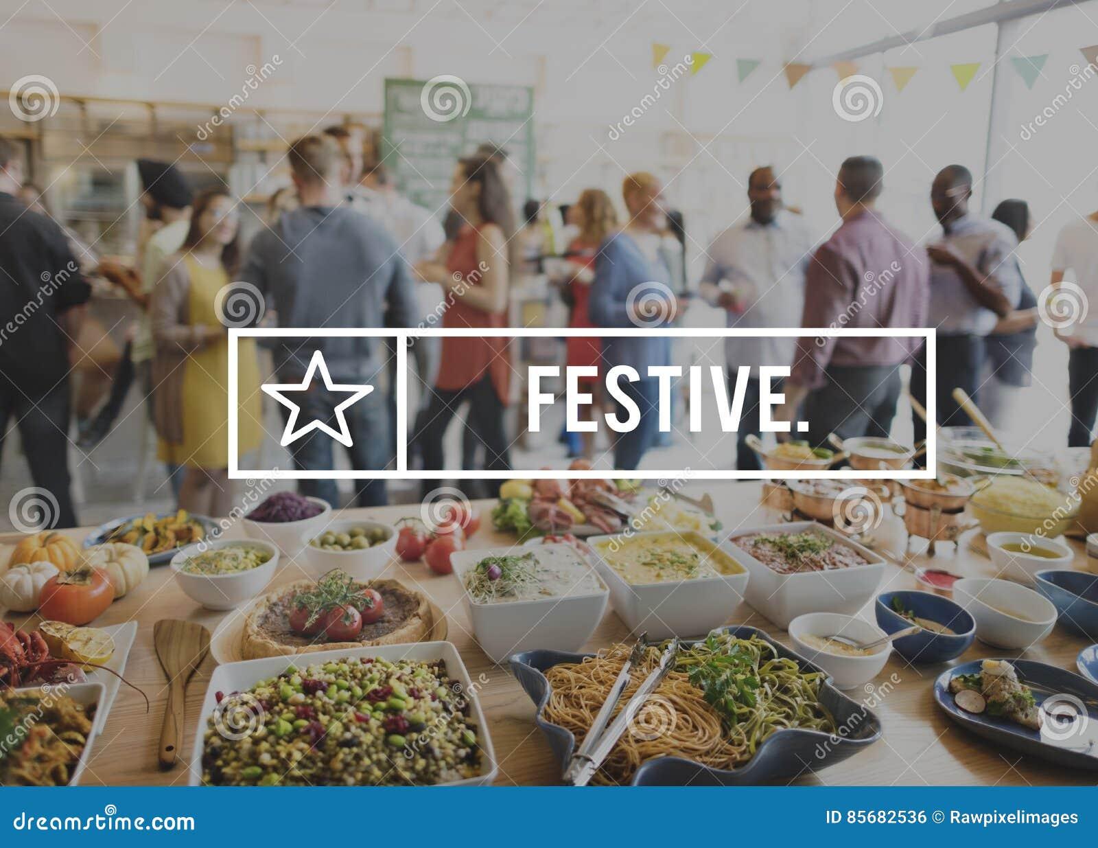 Concepto delicioso de la celebración del partido de la consumición festiva de Foodie