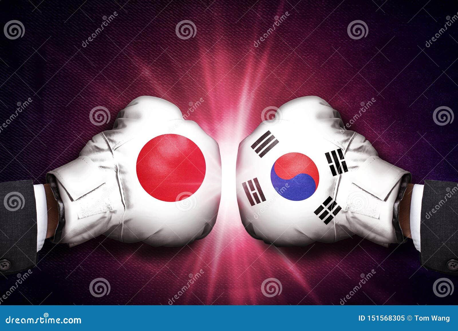 Concepto diplomático y comercial del conflicto entre Japón y Corea
