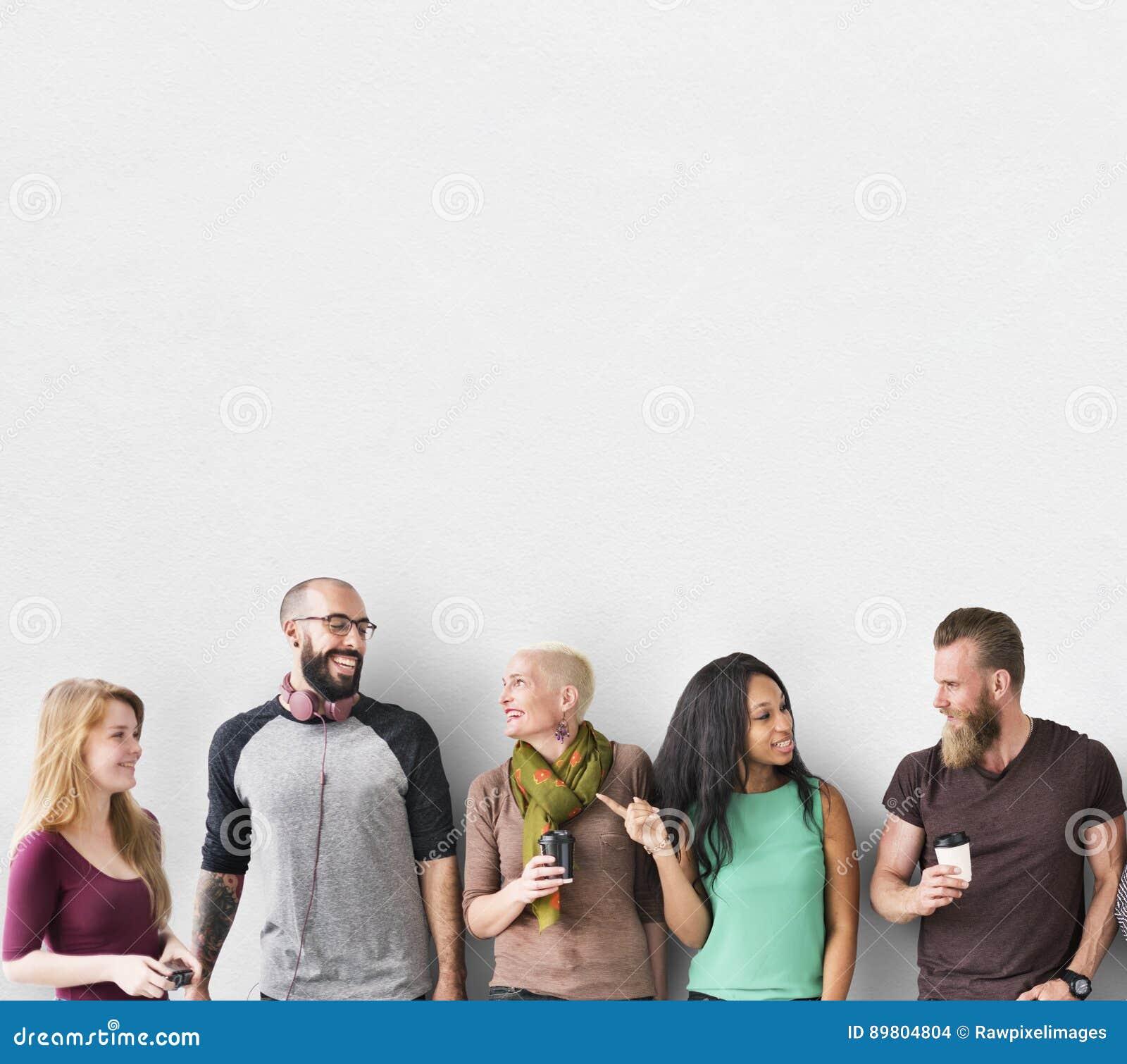 Concepto diverso de la unidad de la comunidad del grupo de personas