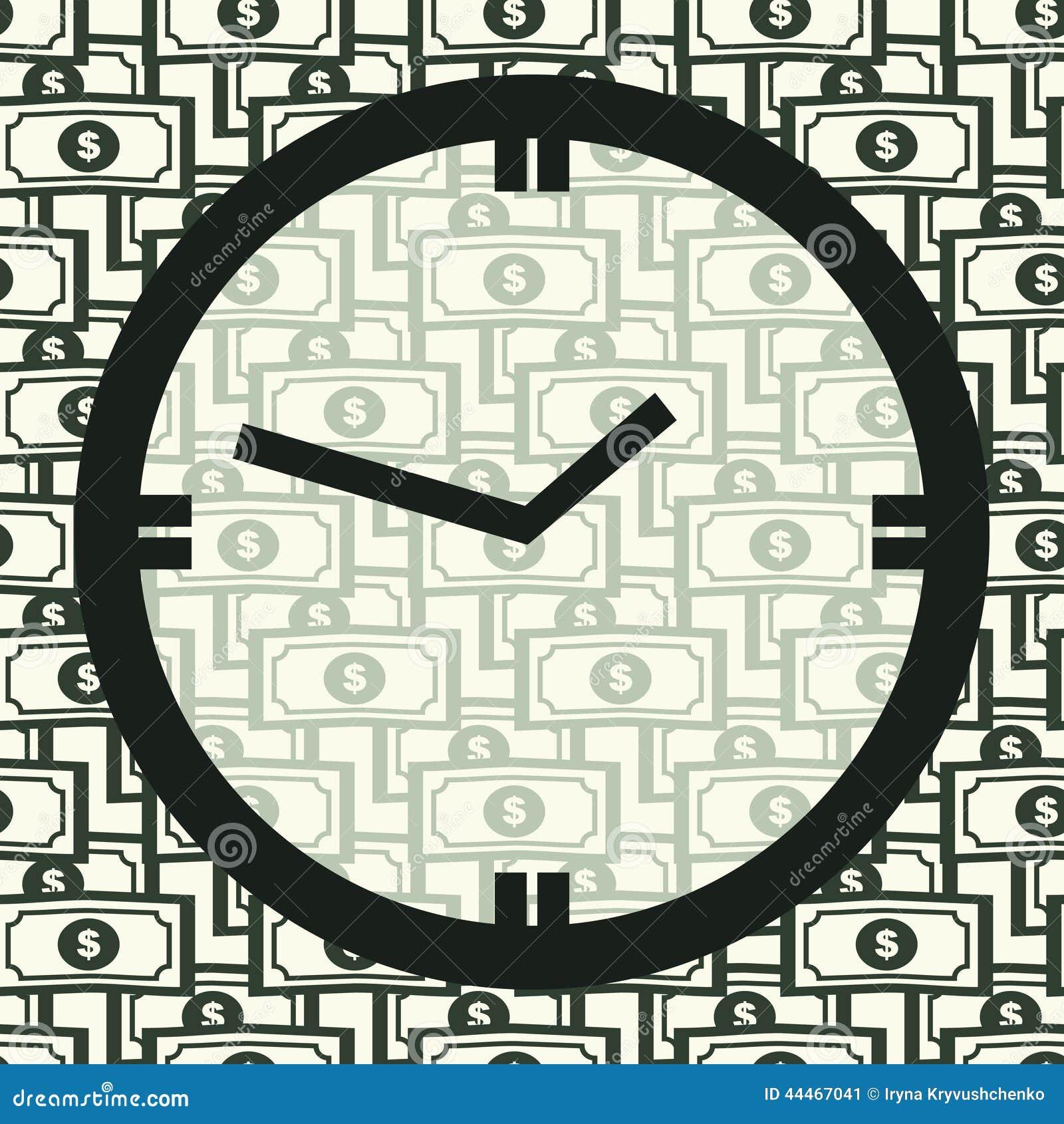 Concepto el tiempo es oro Reloj en el modelo de Seamles