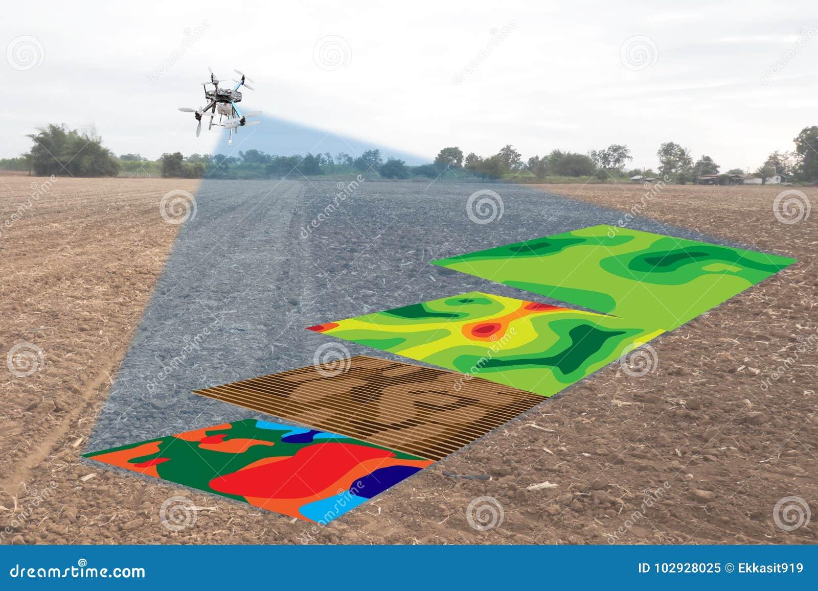 Concepto elegante de la agricultura, infrarrojo del uso del granjero en abejón con el hig