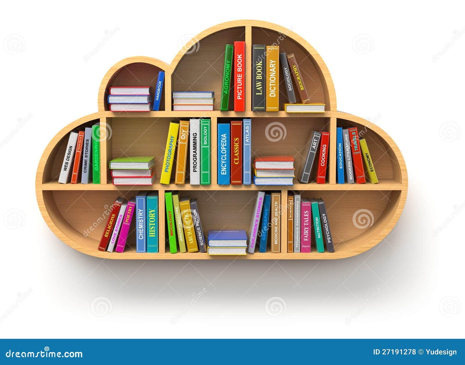 Concepto en línea de la biblioteca