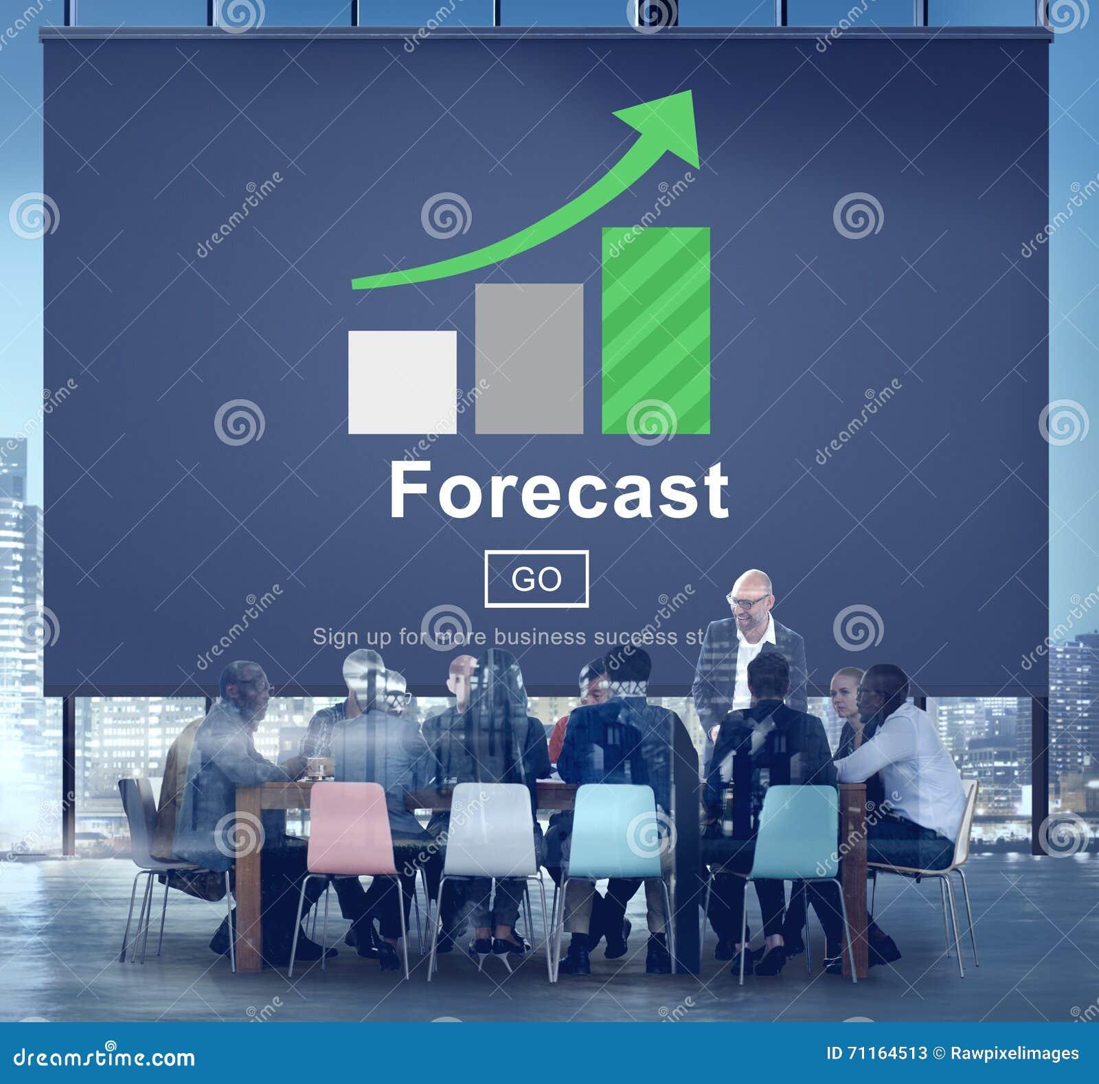 Concepto en línea de la estrategia del plan futuro de la predicción del pronóstico