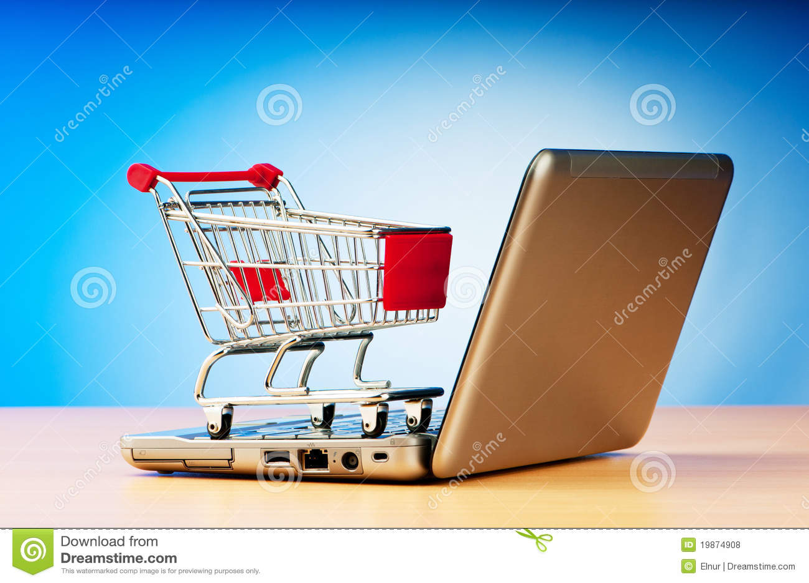 Concepto en línea de las compras del Internet