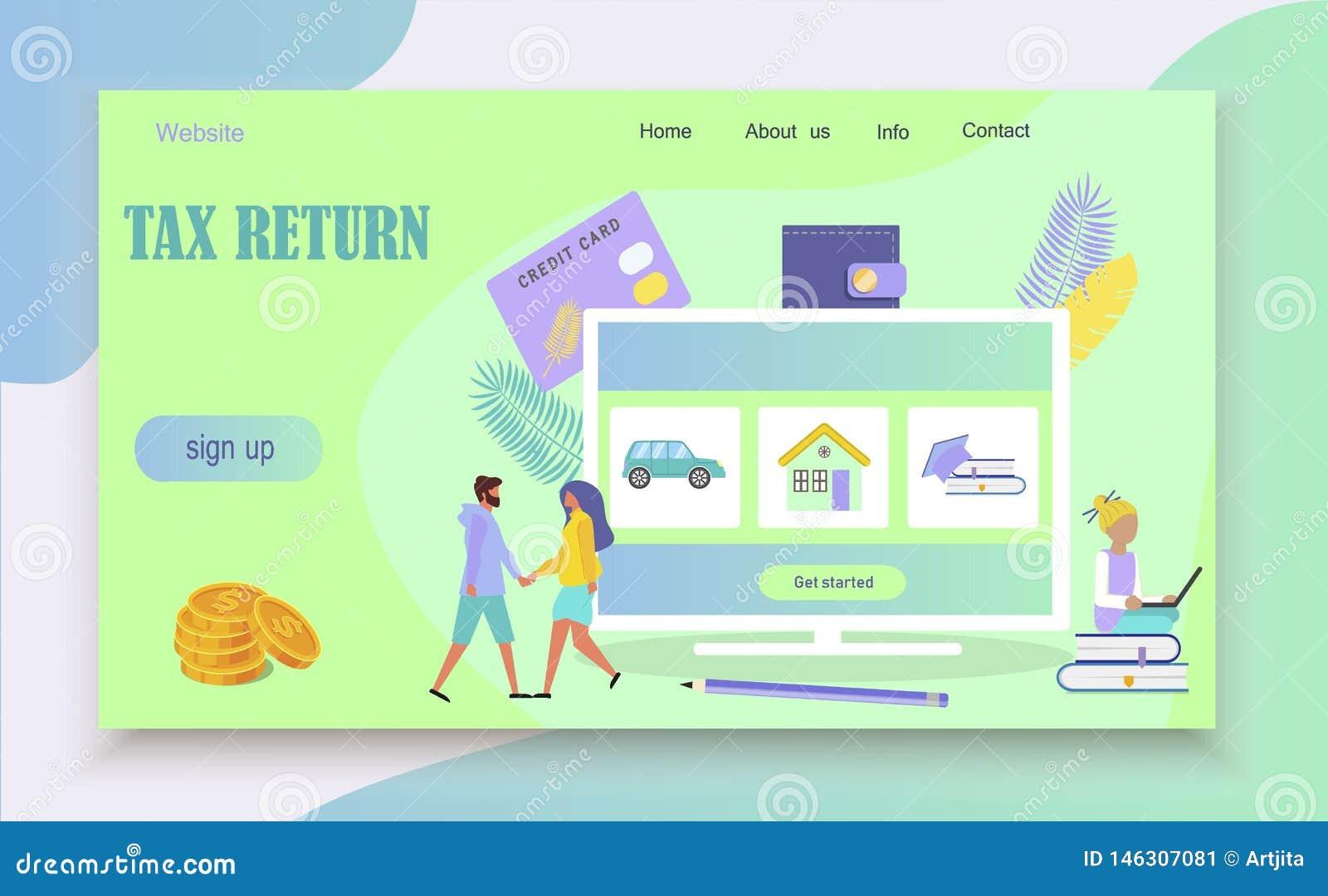 Concepto en línea del pago de impuestos