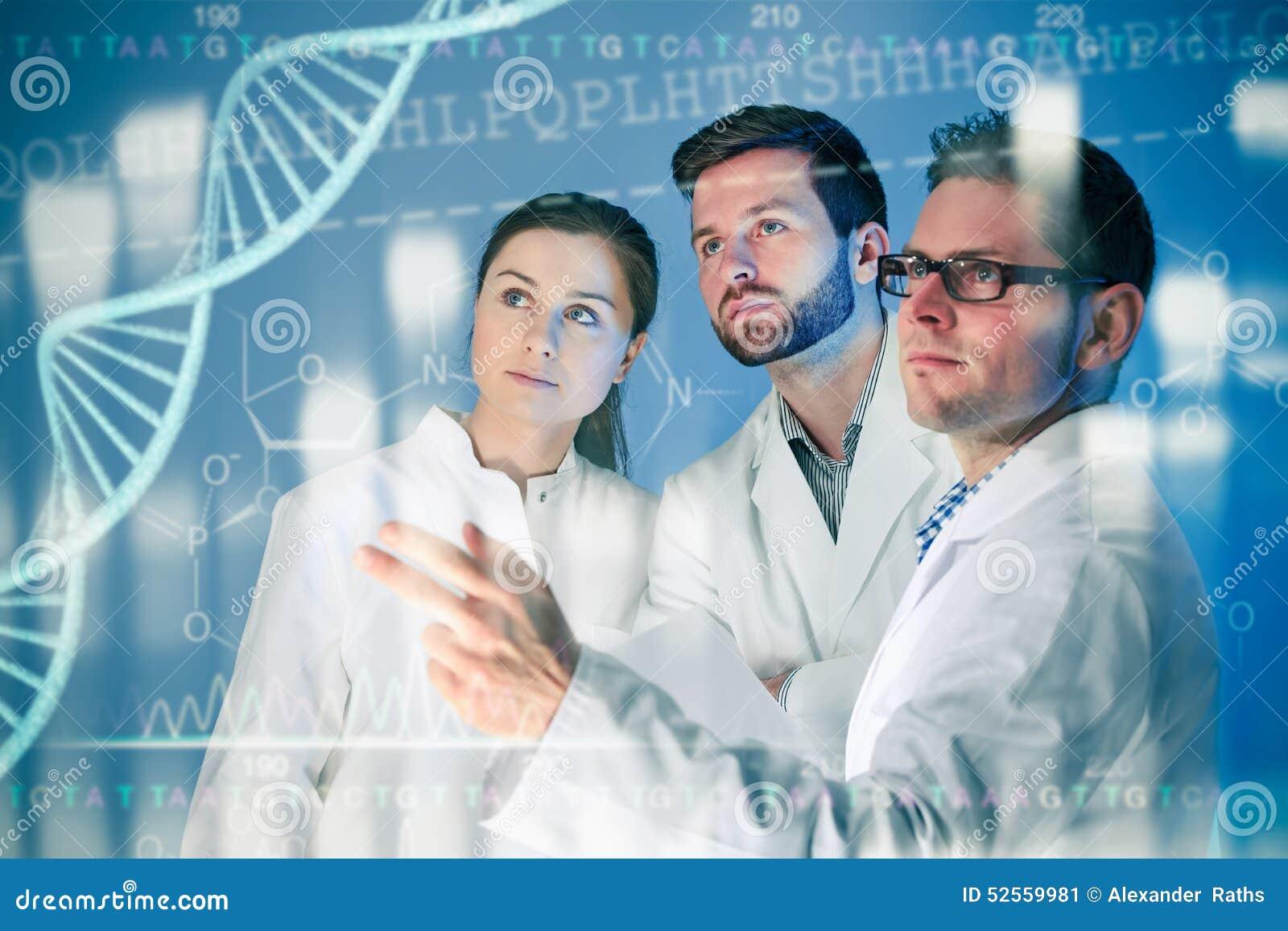 Concepto genético de la DNA aislado en el fondo blanco