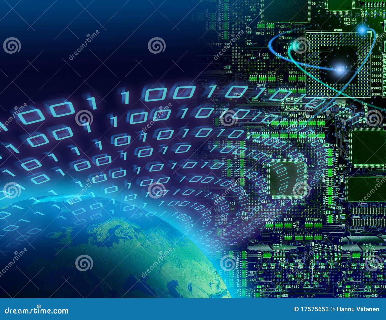 Concepto global de la tecnología digital