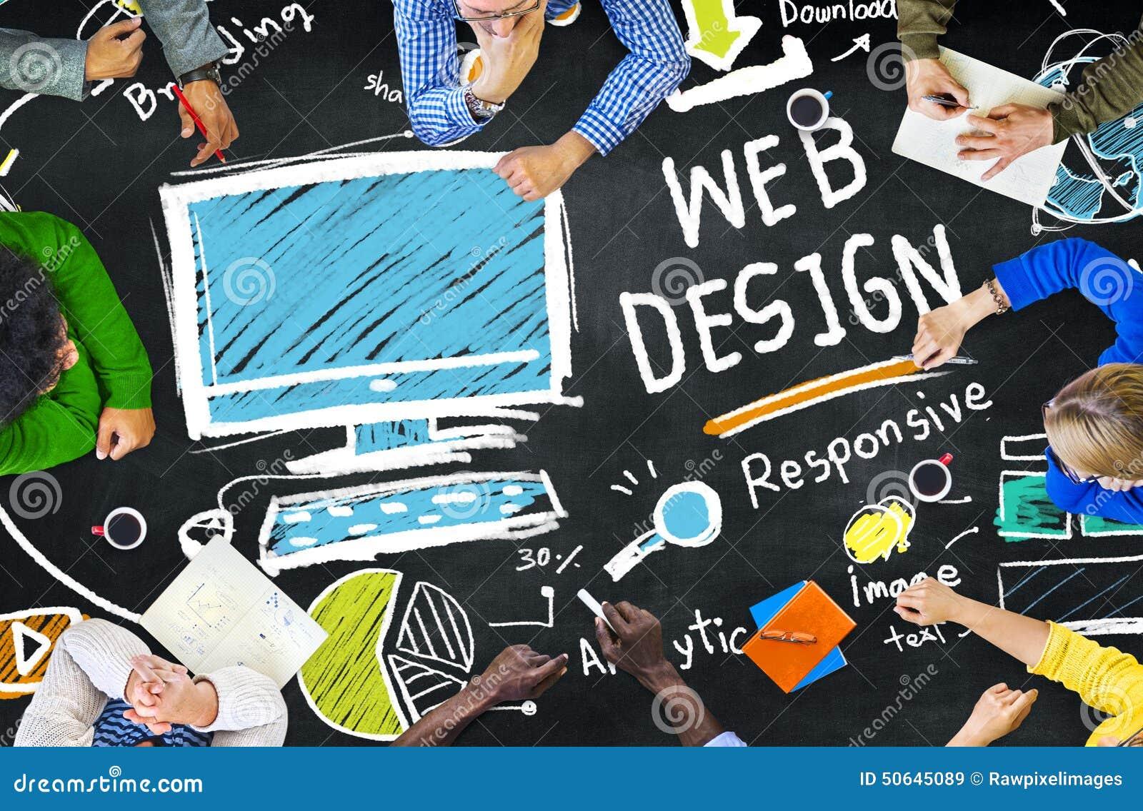 Concepto gráfico de la página web de Digitaces Webdesign de la creatividad contenta