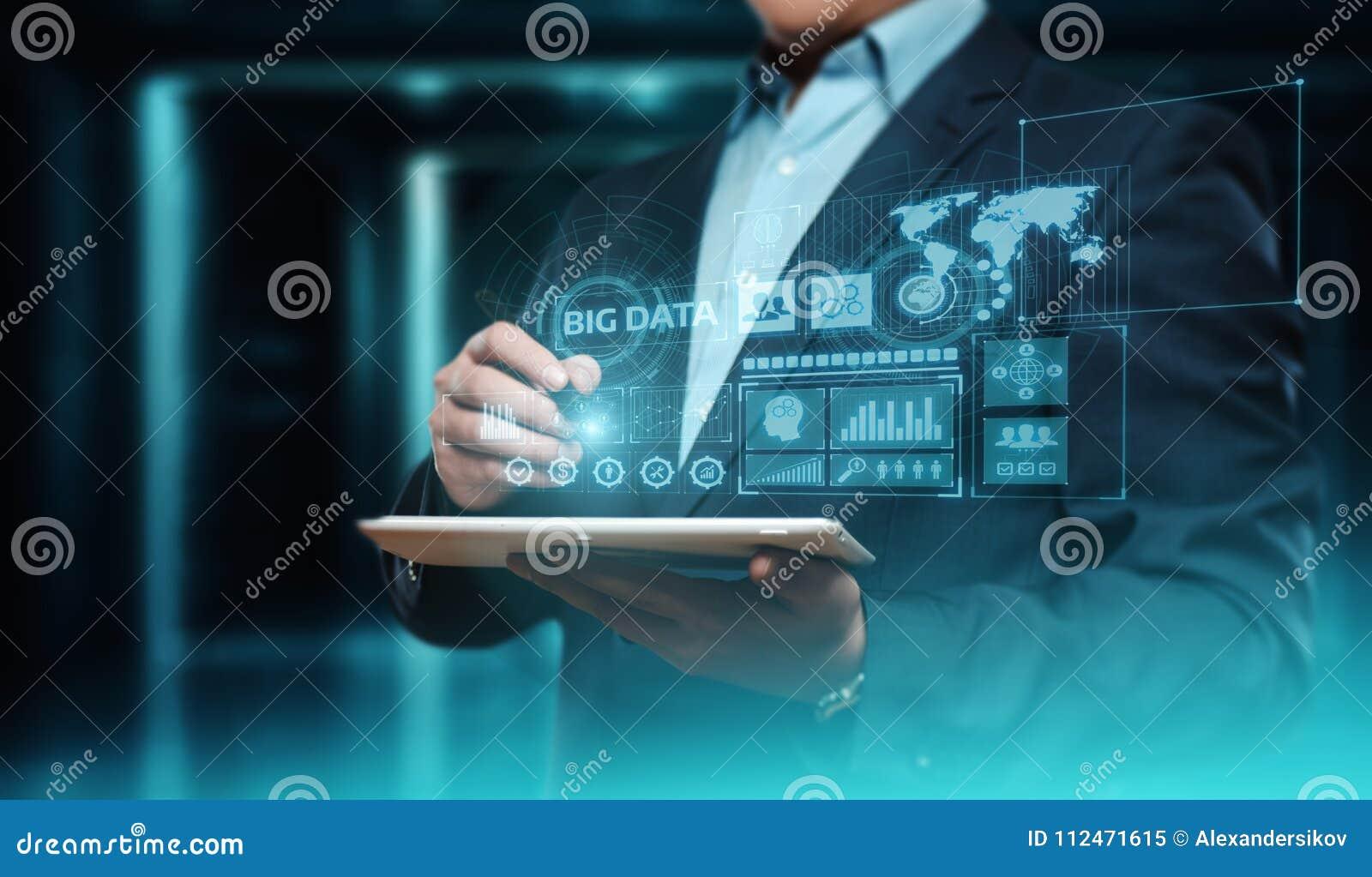 Concepto grande de la información del negocio de la tecnología de la información de Internet de los datos