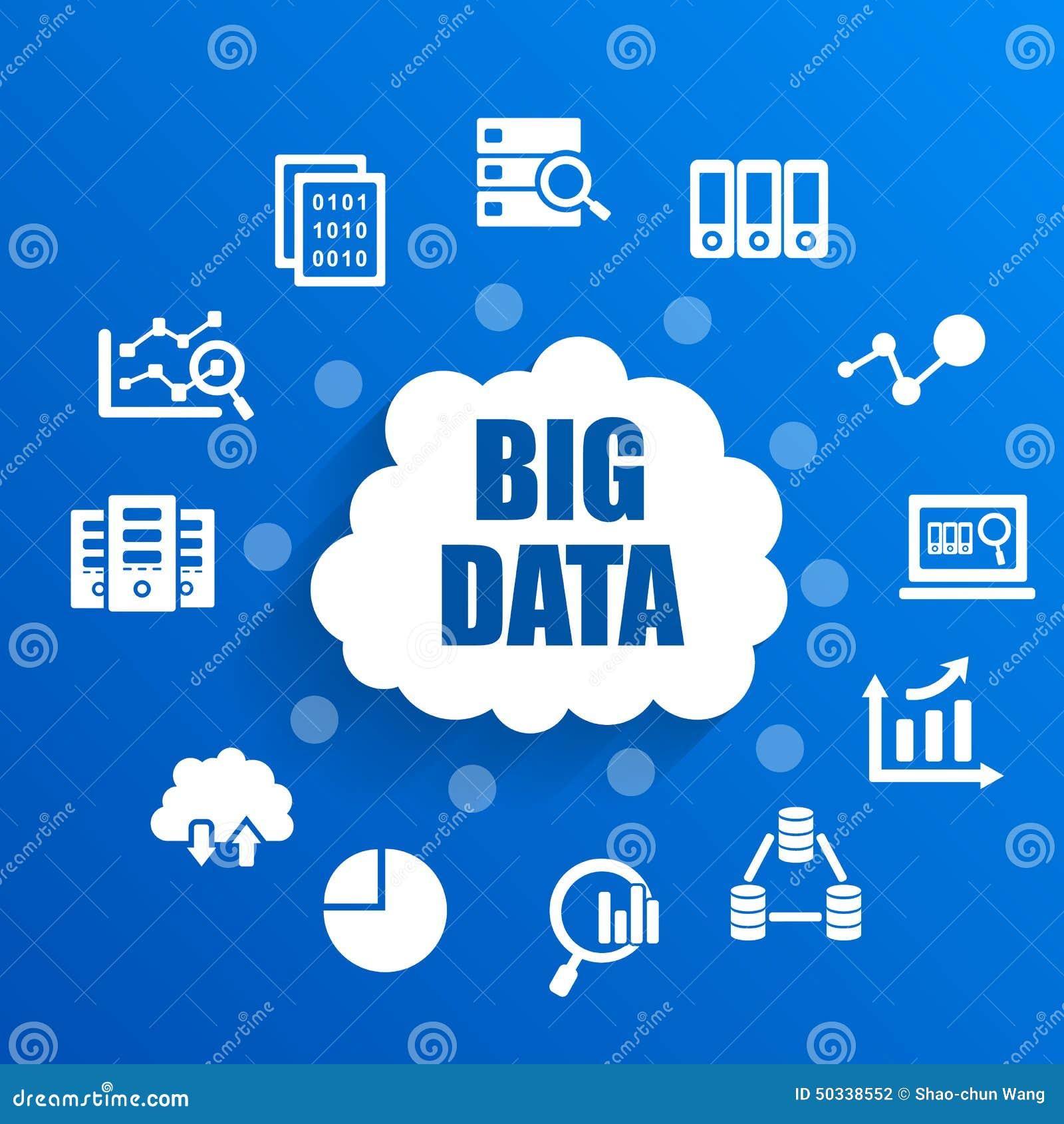 Concepto grande de los datos