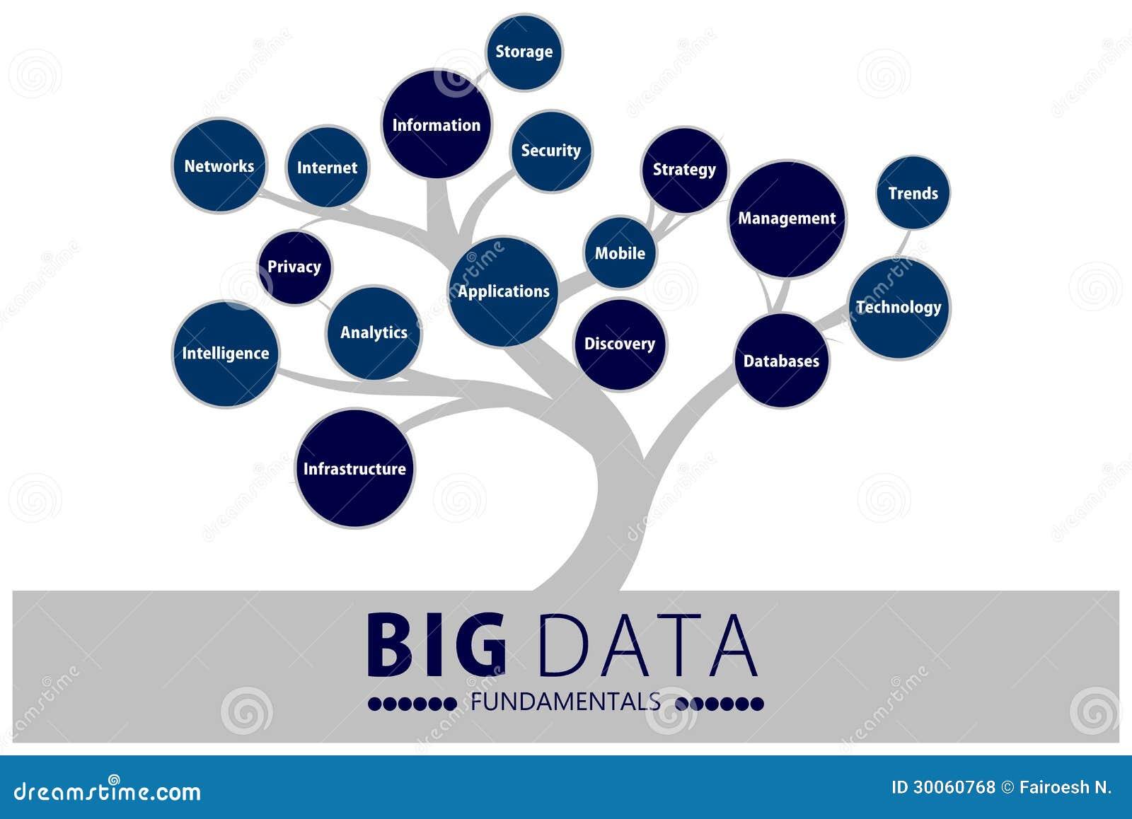 Árbol grande de los fundamentos de los datos