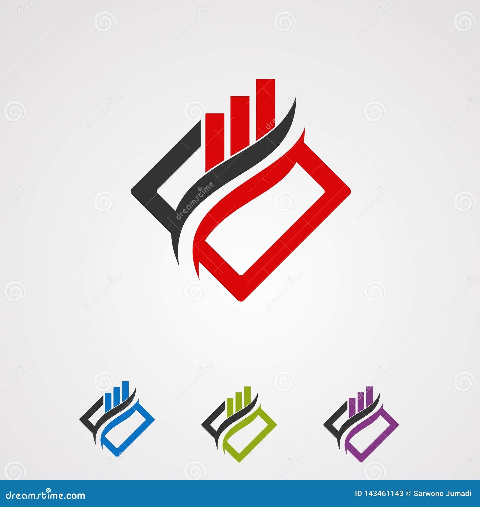 Concepto, icono, elemento, y plantilla del vector del logotipo del mercado de la caja para la compañía