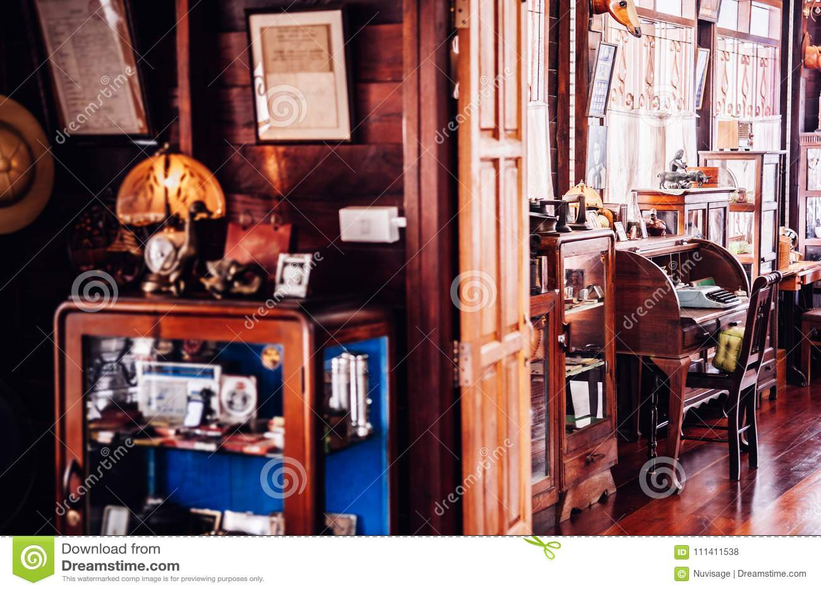 Concepto Interior D Del Vintage De La Casa De Campo De