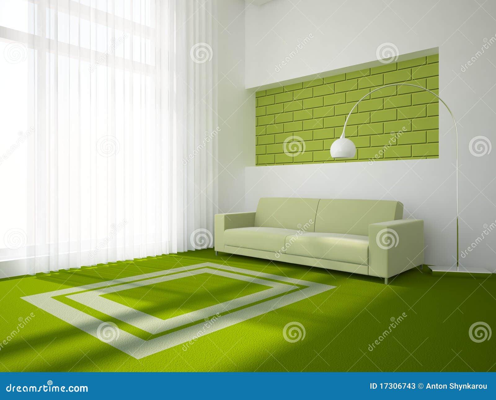 Concepto interior verde