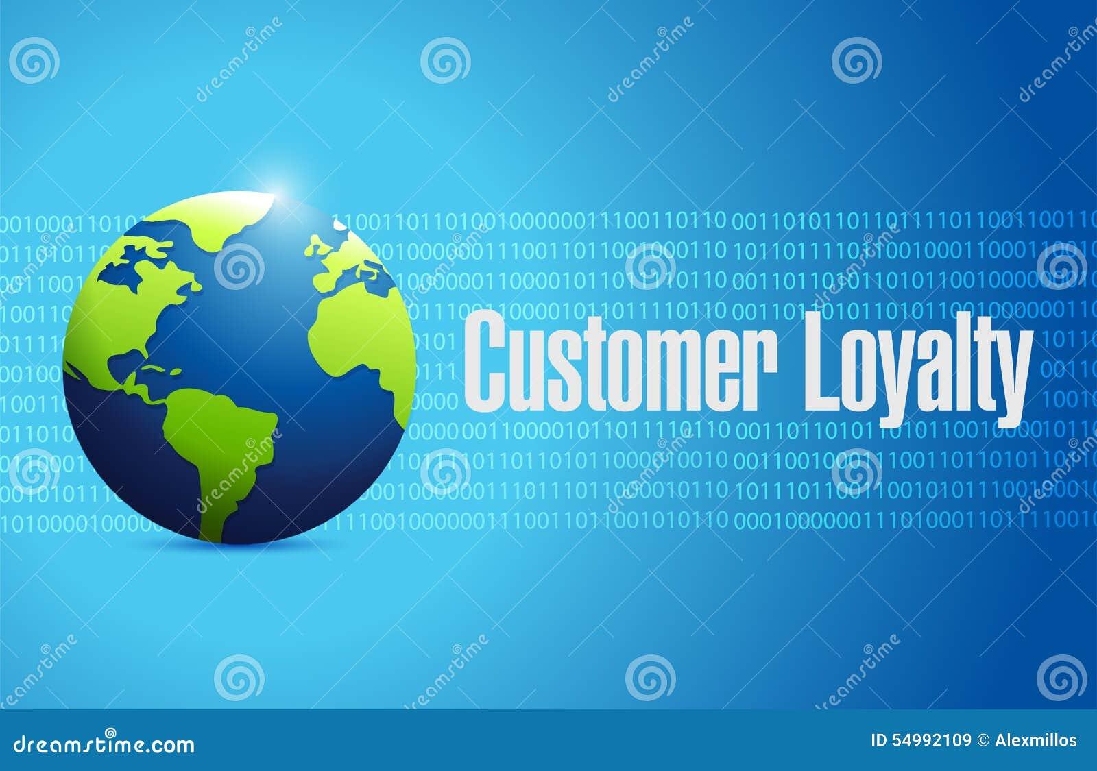 Concepto internacional de la muestra del globo de la lealtad del cliente
