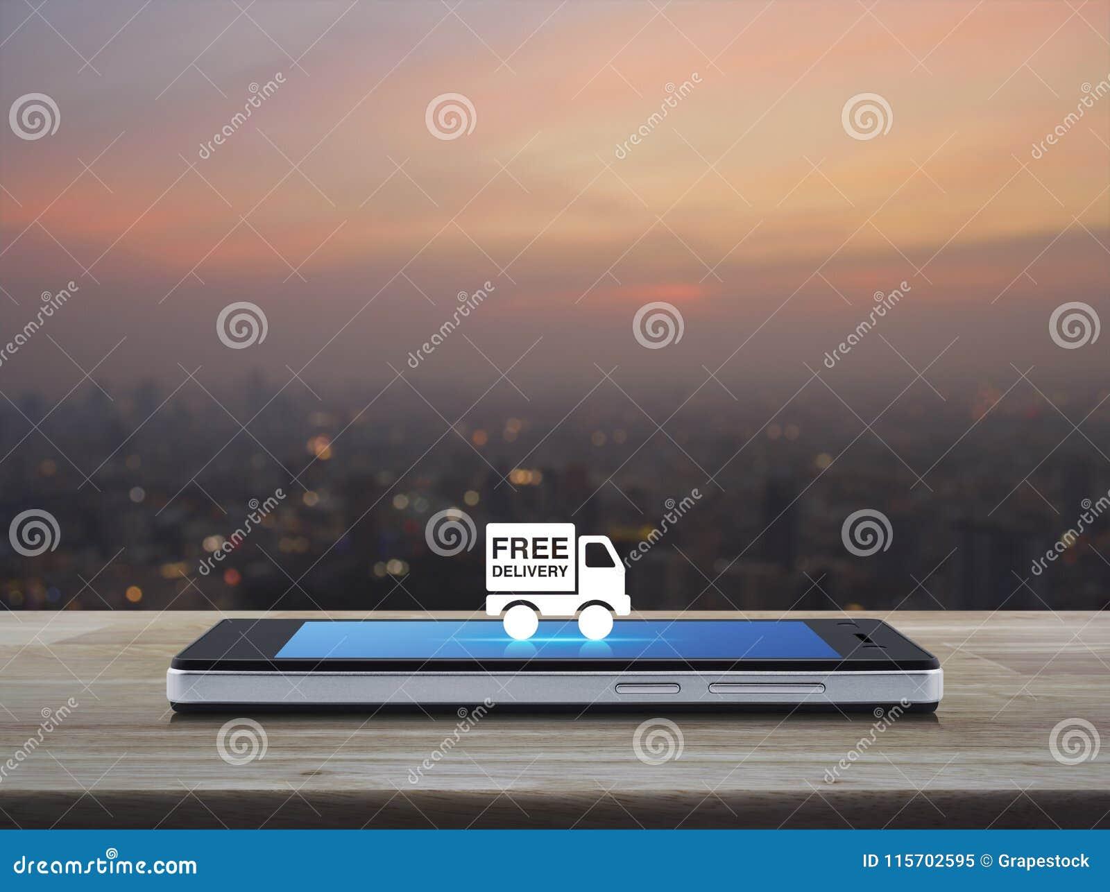 Concepto libre del negocio del camión de reparto