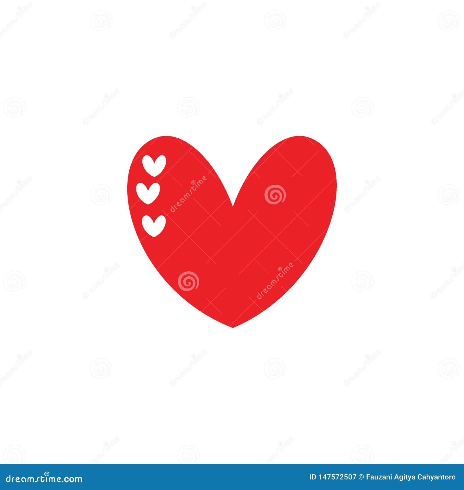 Concepto lindo de los ejemplos del corazón del amor