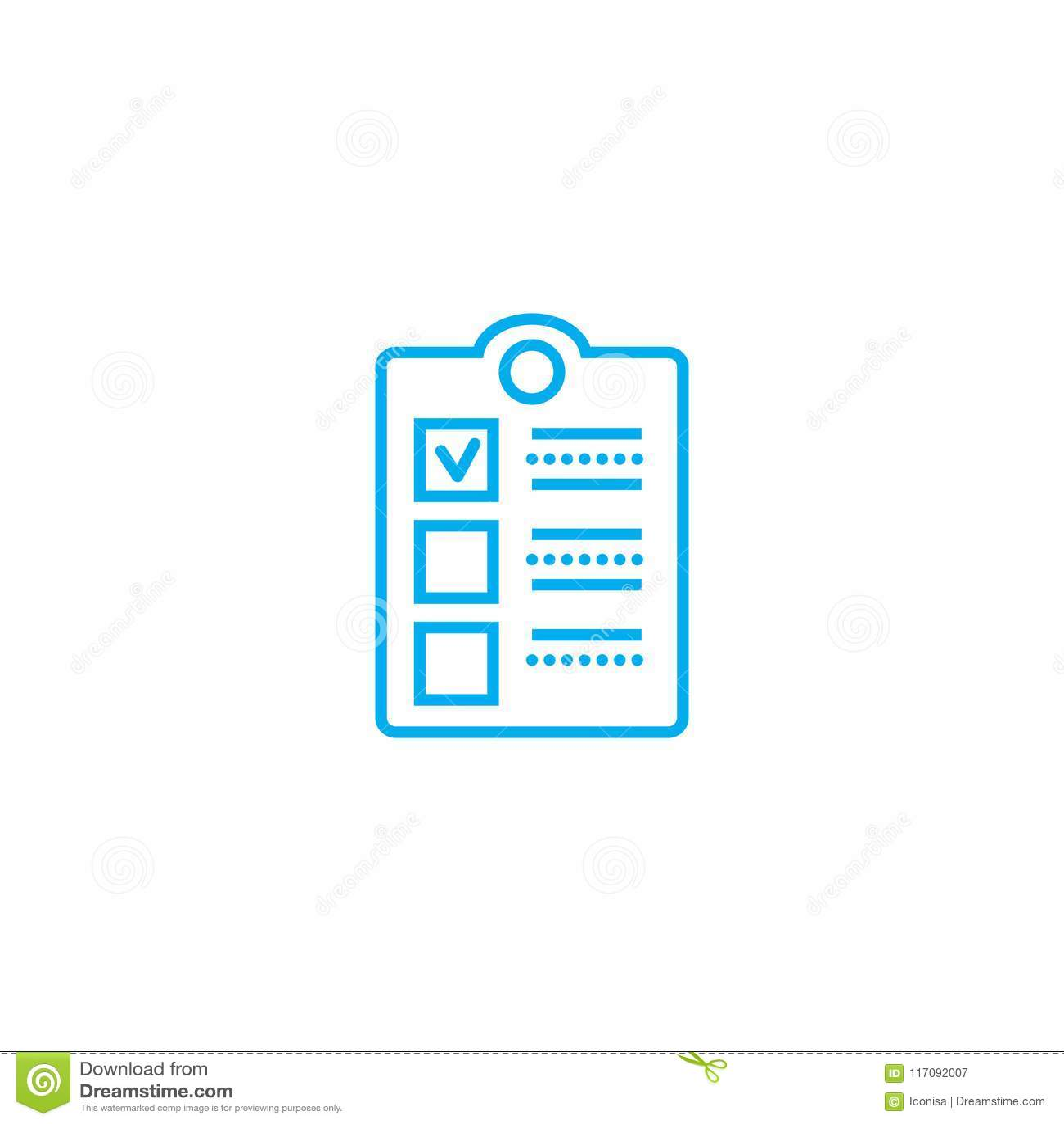 Concepto linear del icono de la encuesta sobre el empleado Línea muestra del vector, símbolo, ejemplo de la encuesta sobre el emp