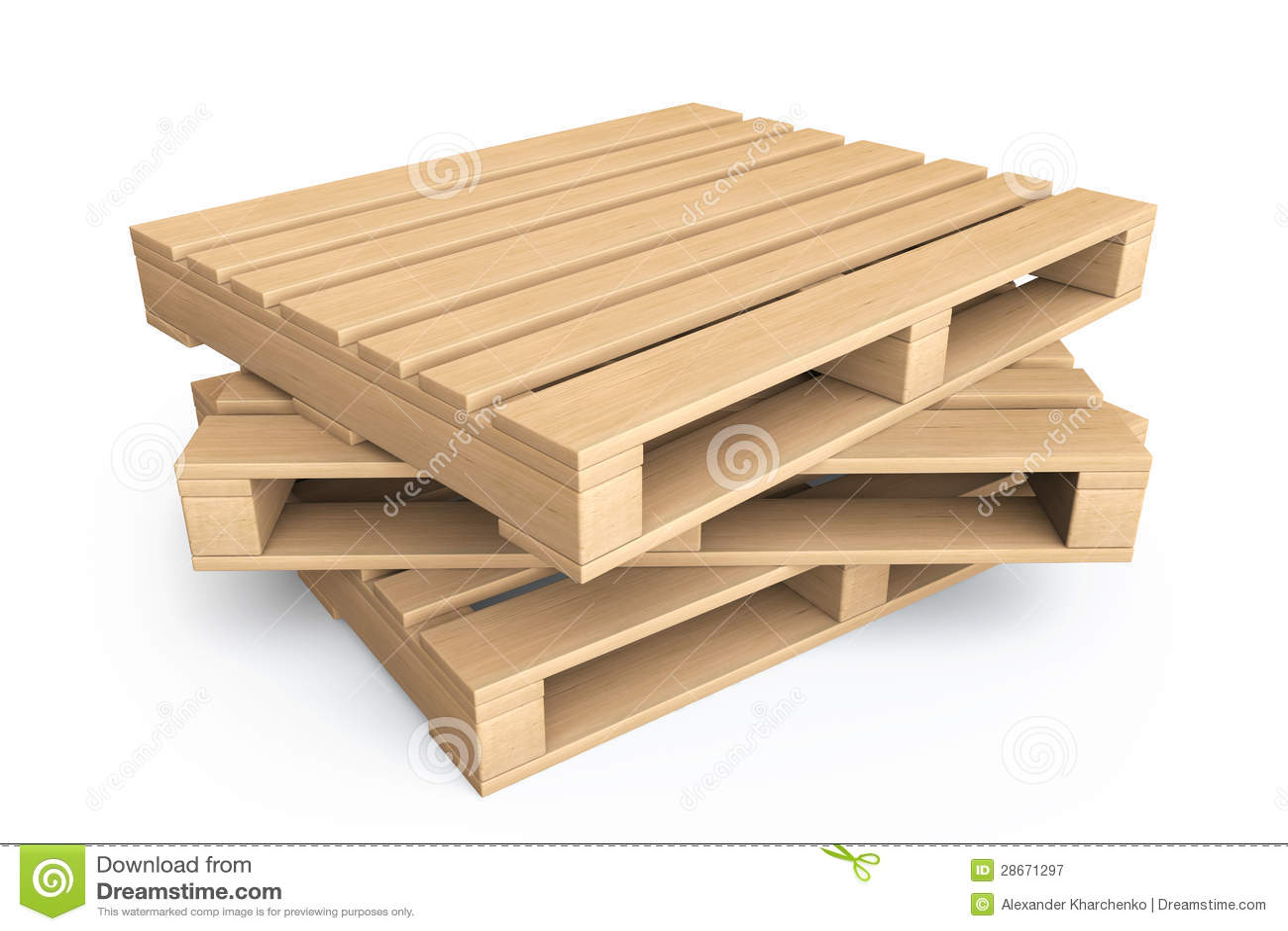 Concepto log stico paletas de madera fotograf a de for Banco de paletas de madera