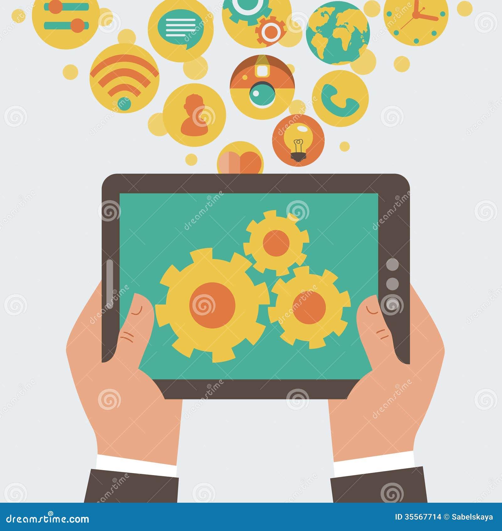Concepto móvil del desarrollo del app