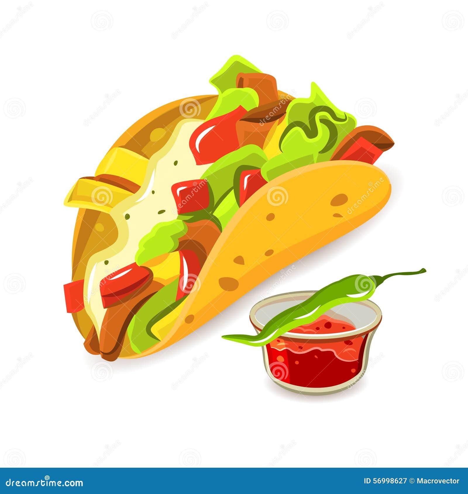Concepto Mexicano Del Taco De La Comida Ilustración del Vector ...