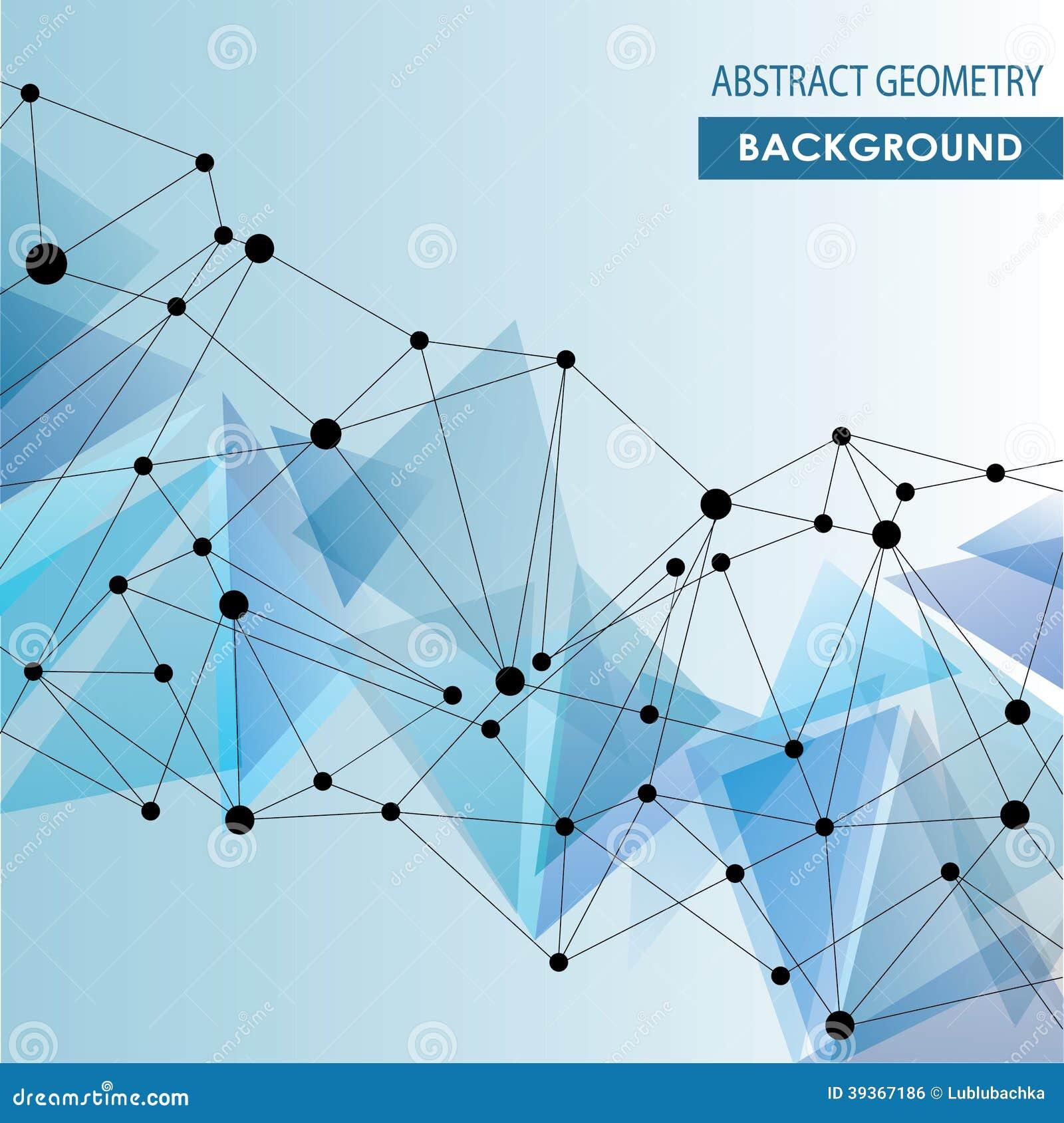 Concepto molecular abstracto del vector de la conexión