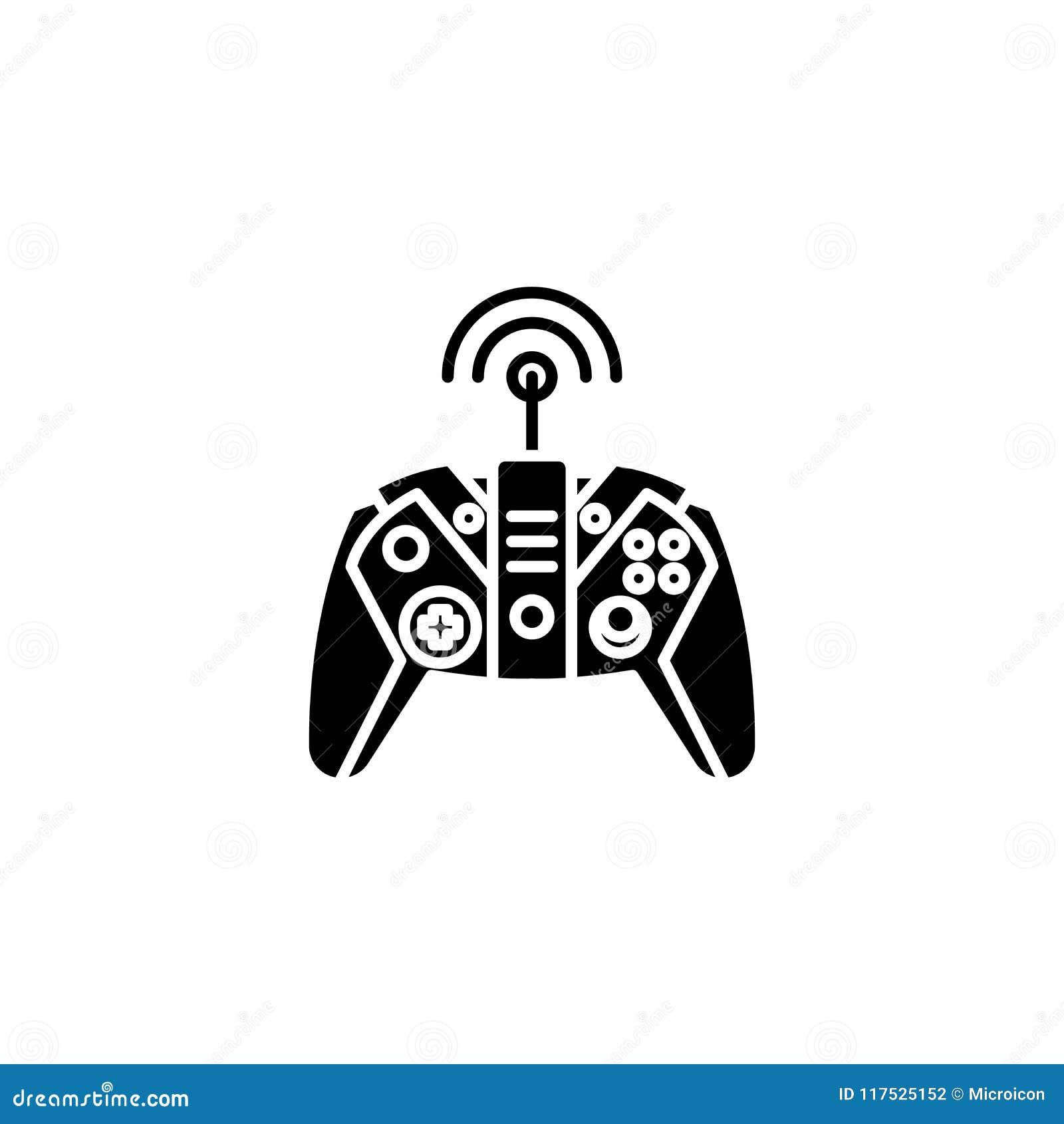 Concepto negro malo del icono que controla Símbolo plano malo del vector que controla, muestra, ejemplo