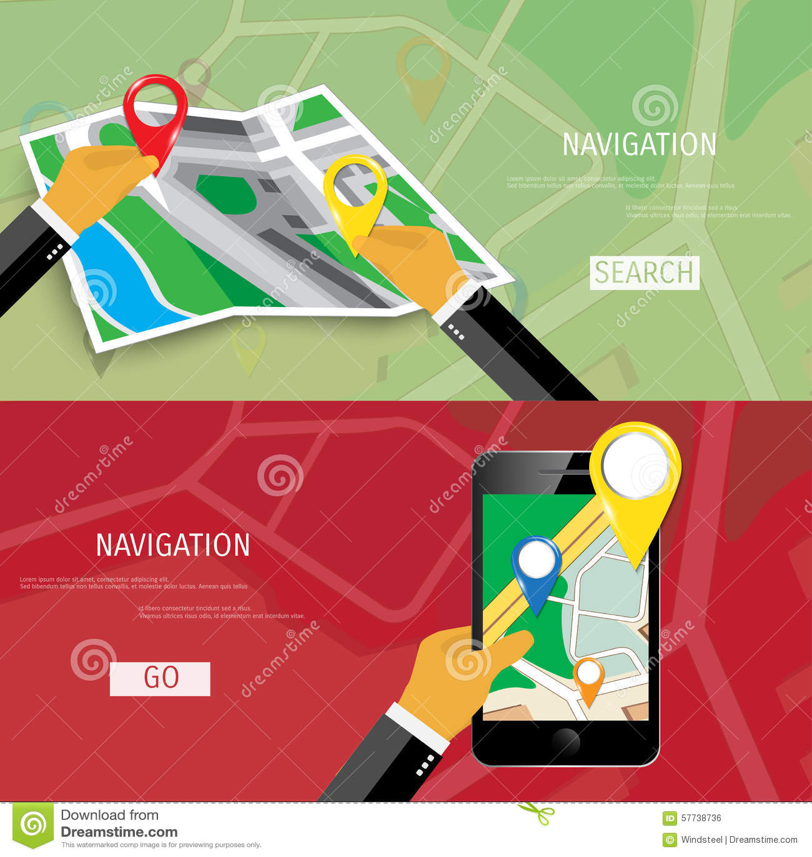 Concepto plano del vector de World Travel y de turismo