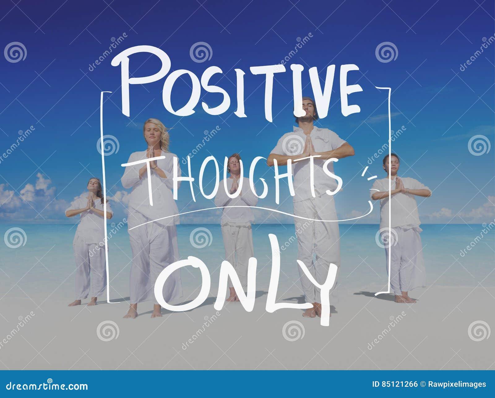 Concepto positivo de la vida de la mente de los pensamientos de la forma de vida