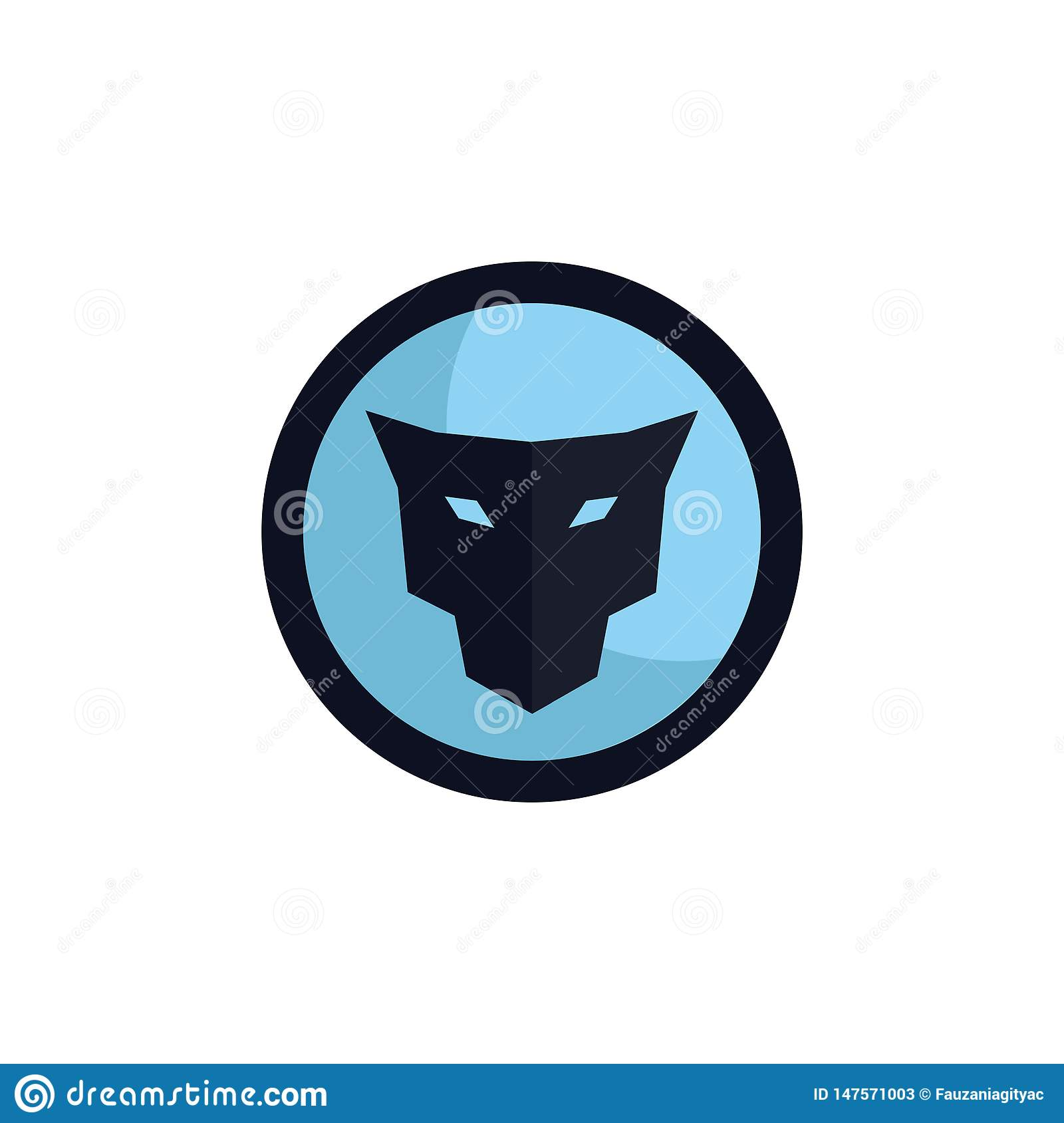 Concepto principal del logotipo del emblema del jaguar