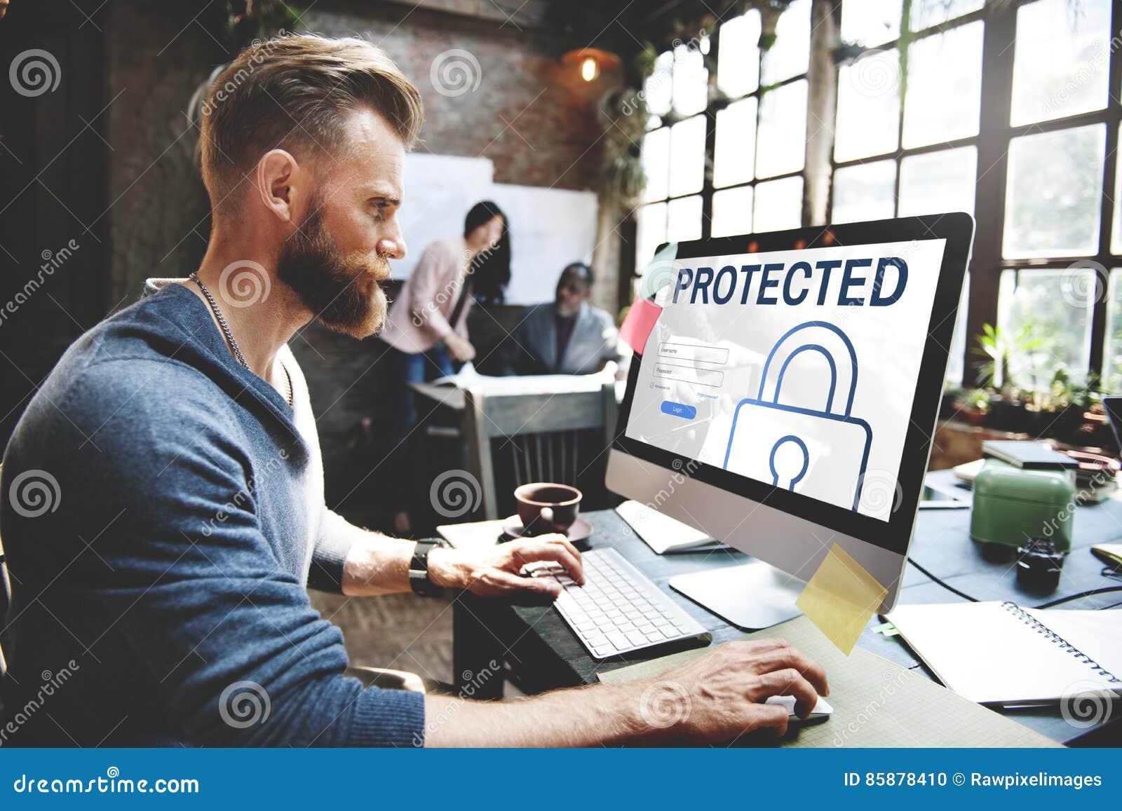 Concepto protegido del registro de la contraseña de usuario del inicio de sesión