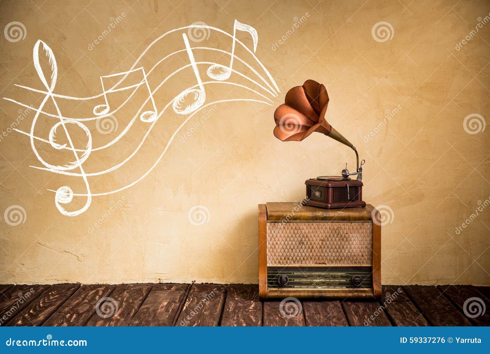 Concepto retro de la música