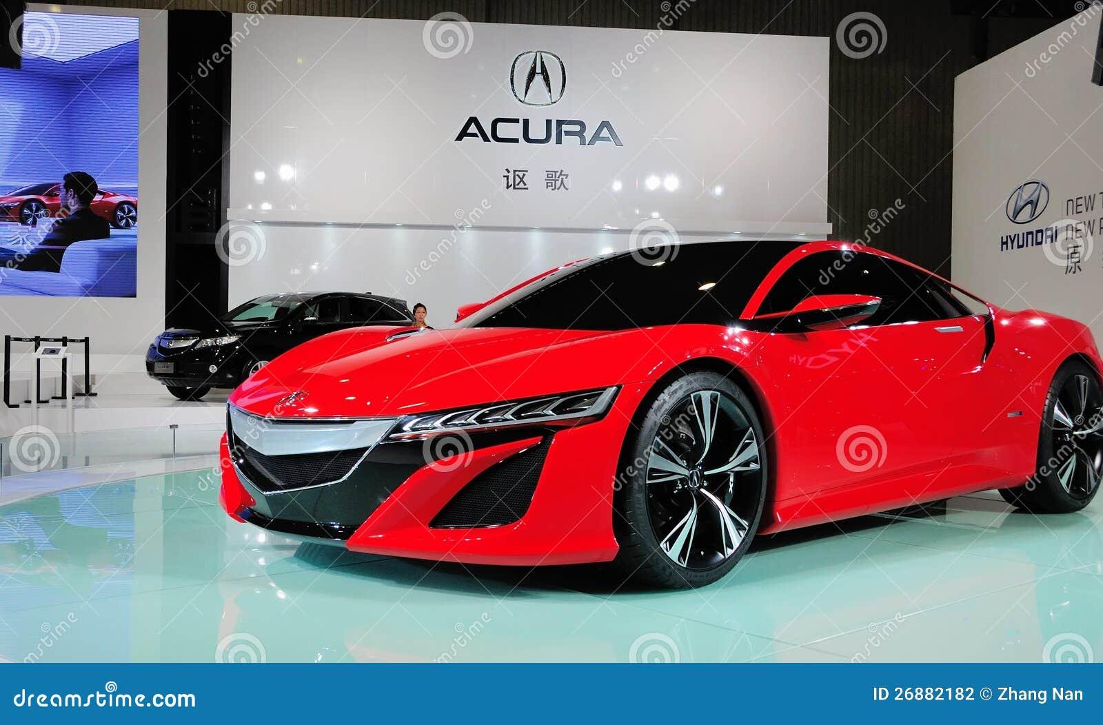 Concepto rojo de Acura NSX
