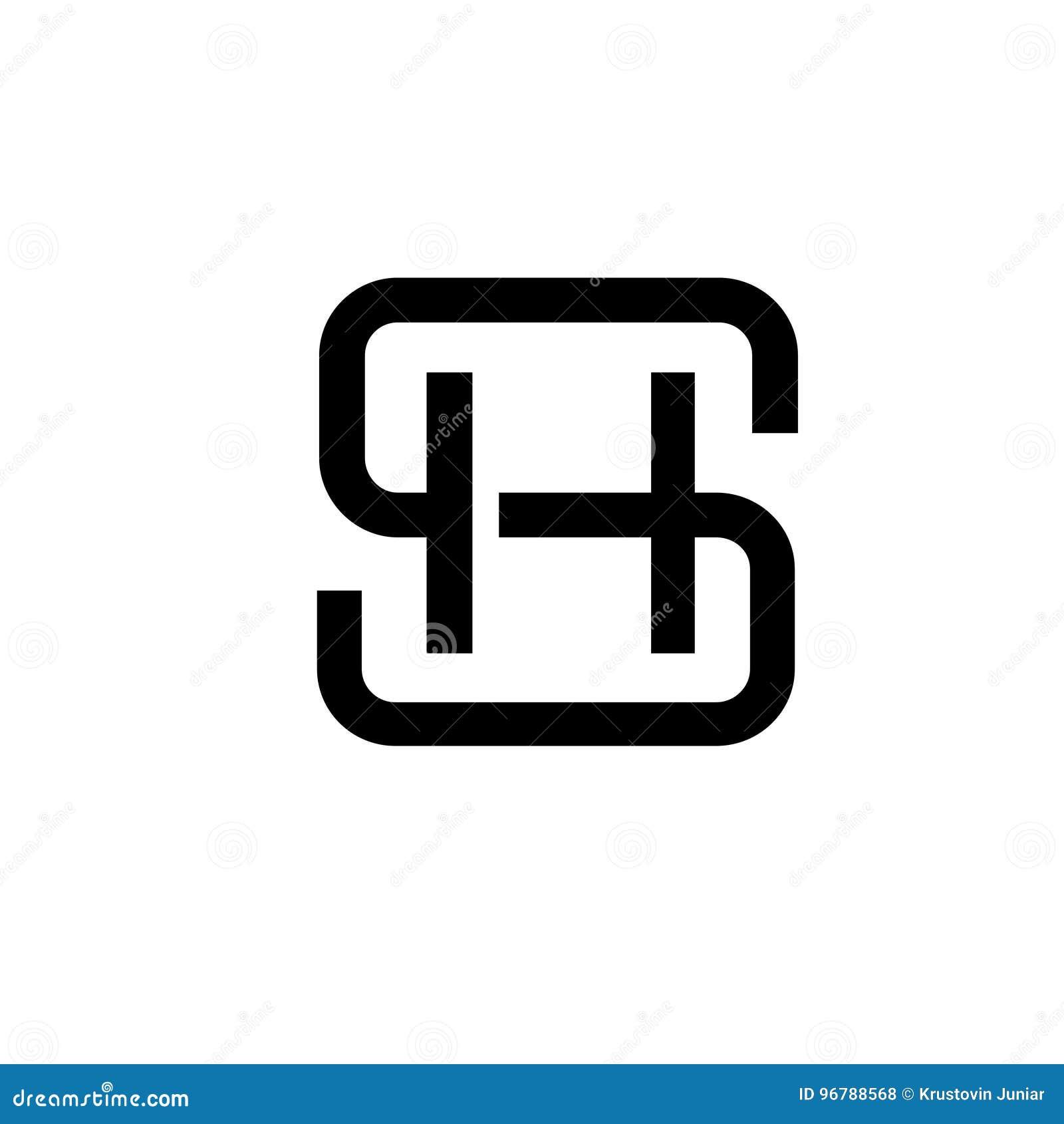 Concepto SH del logotipo de la letra