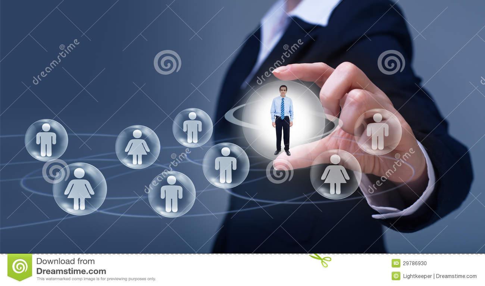 Concepto social del establecimiento de una red