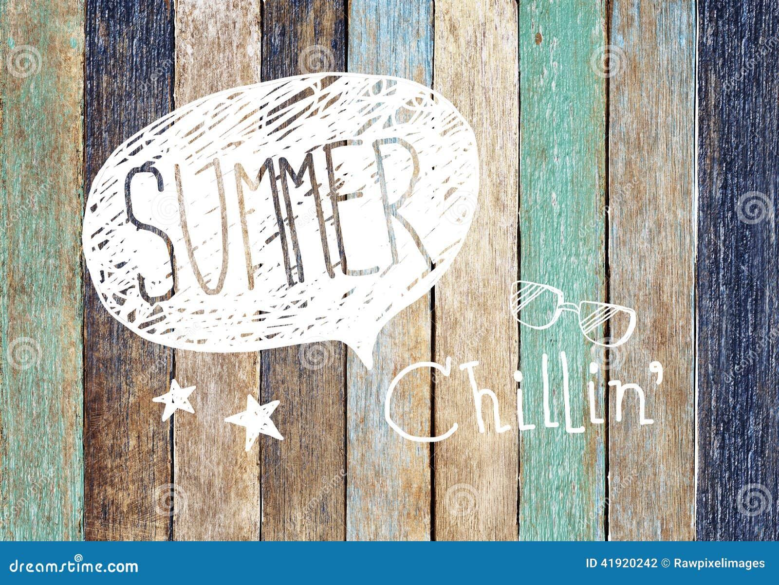 Conceptos de madera coloridos del tablón y del verano
