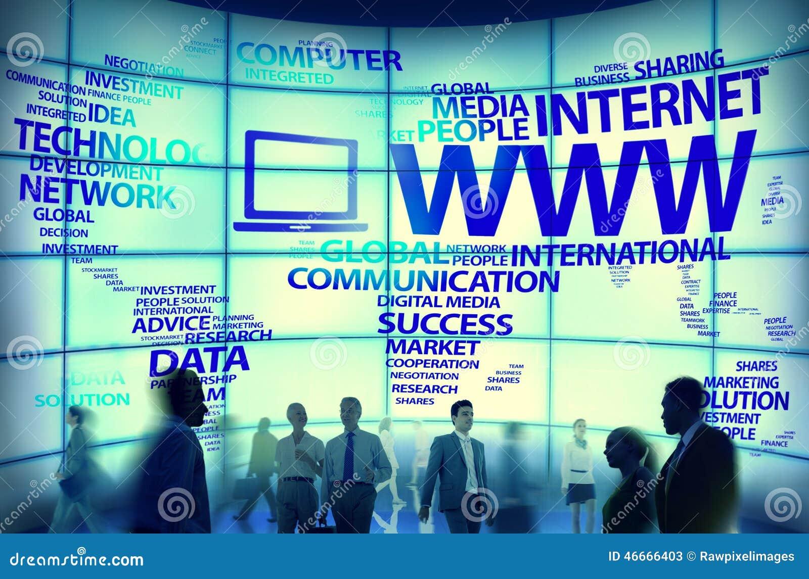 Conceptos globales de Internet de la conexión del World Wide Web