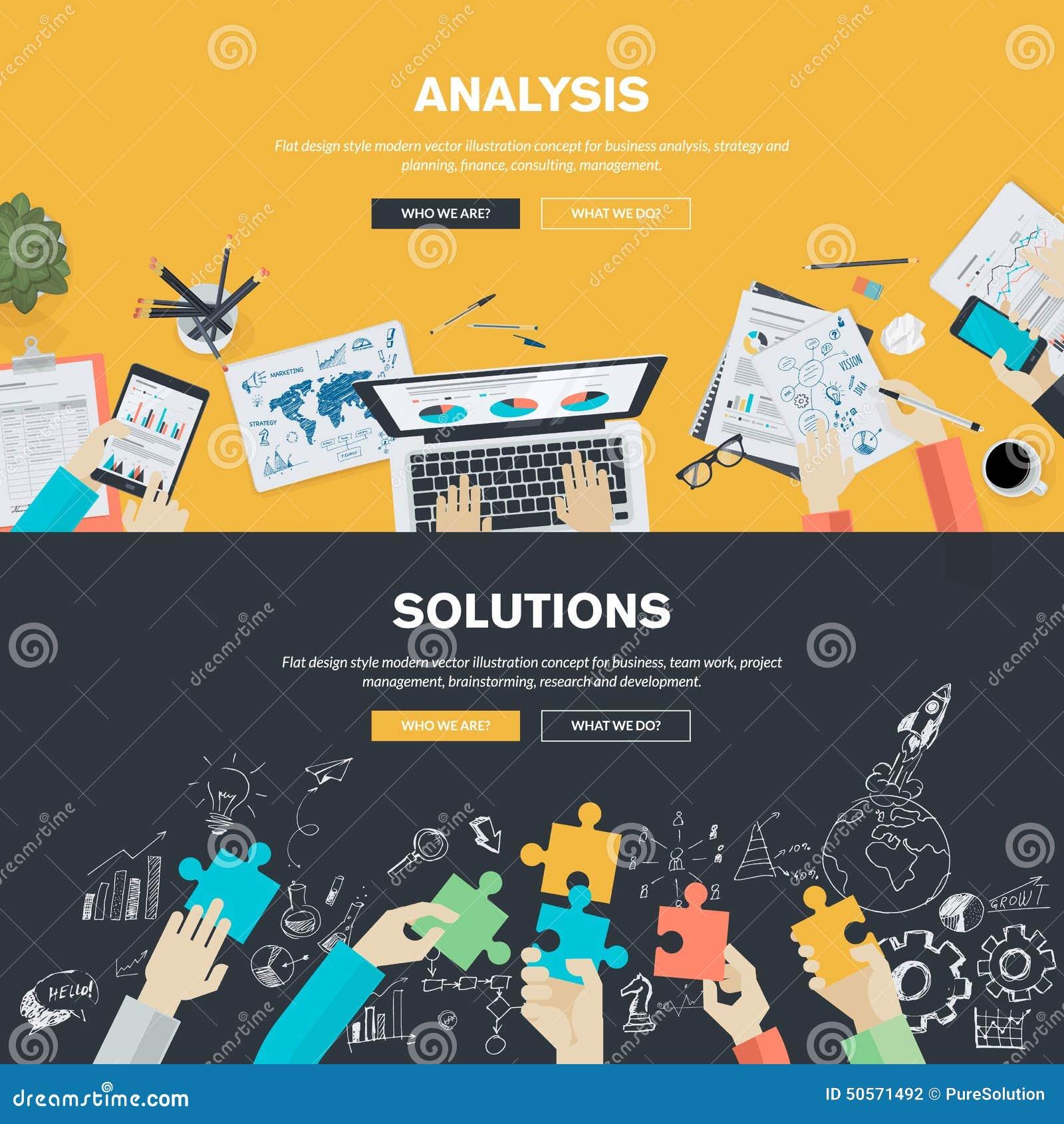 Conceptos planos del ejemplo del diseño para el negocio