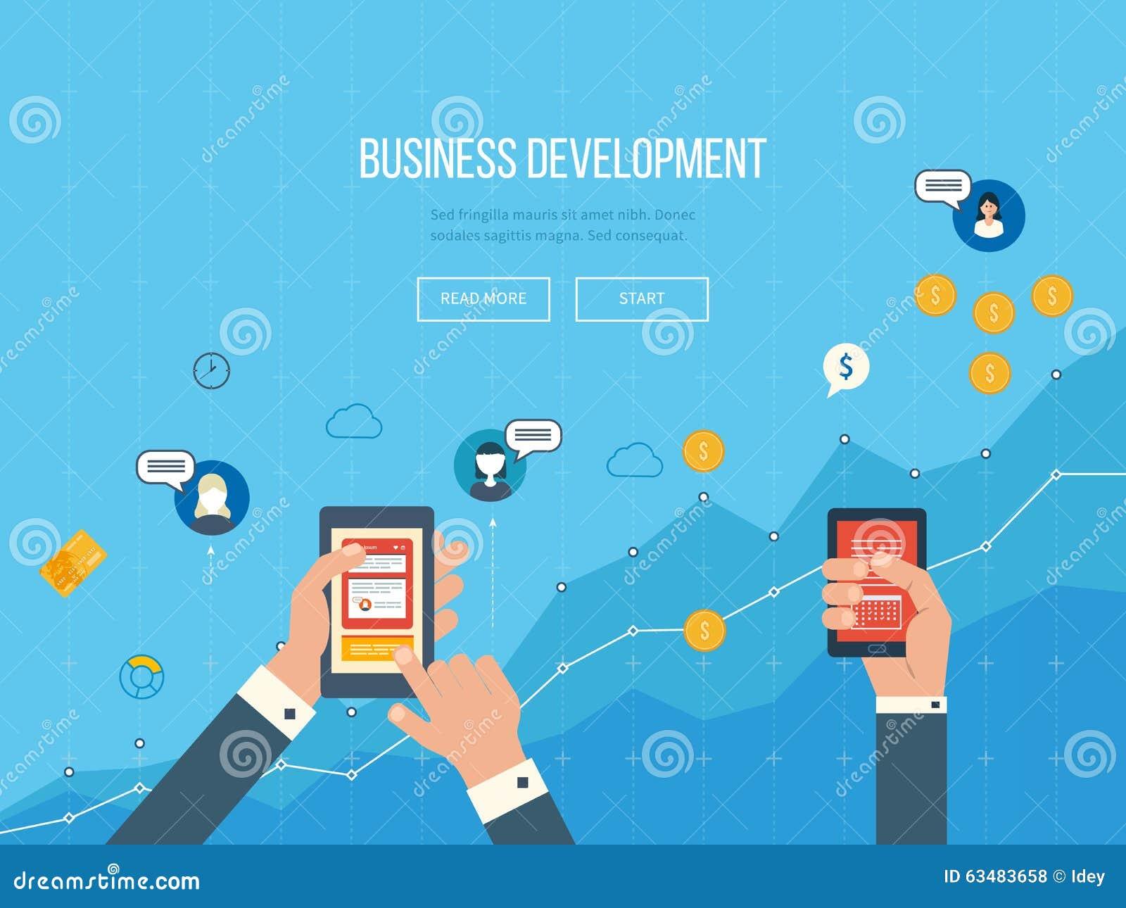 Custom Development Design: Concepts For Business Development, Teamwork, Financial