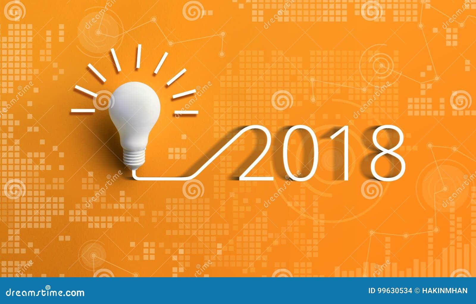 Concepts 2018 d inspiration de créativité avec l ampoule