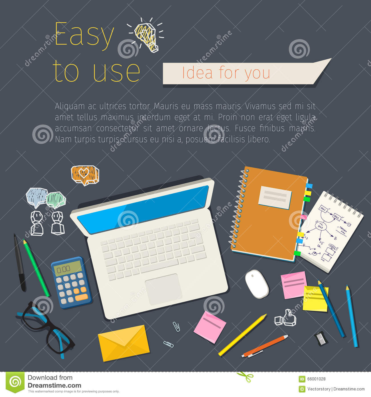 Concepts for digital marketing stock vector image 66001028 for Digital marketing materials