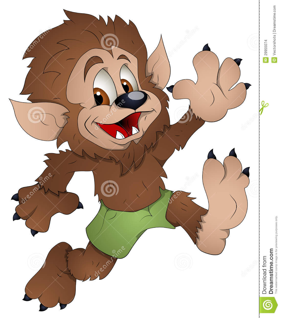 Cute Werewolf - Cartoon Character - Vector Illustration Stock Images ...